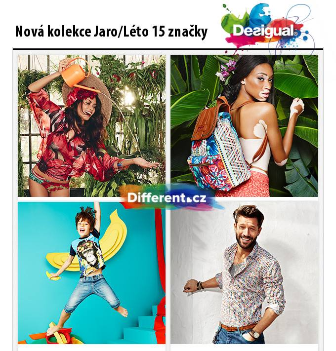 Collezione Desigual Primavera / Estate 2015. Fonte: Facebook Differentfashion.cz