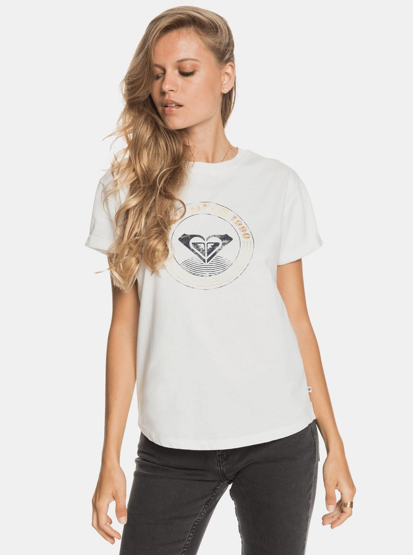 Roxy bianco maglietta con stampa