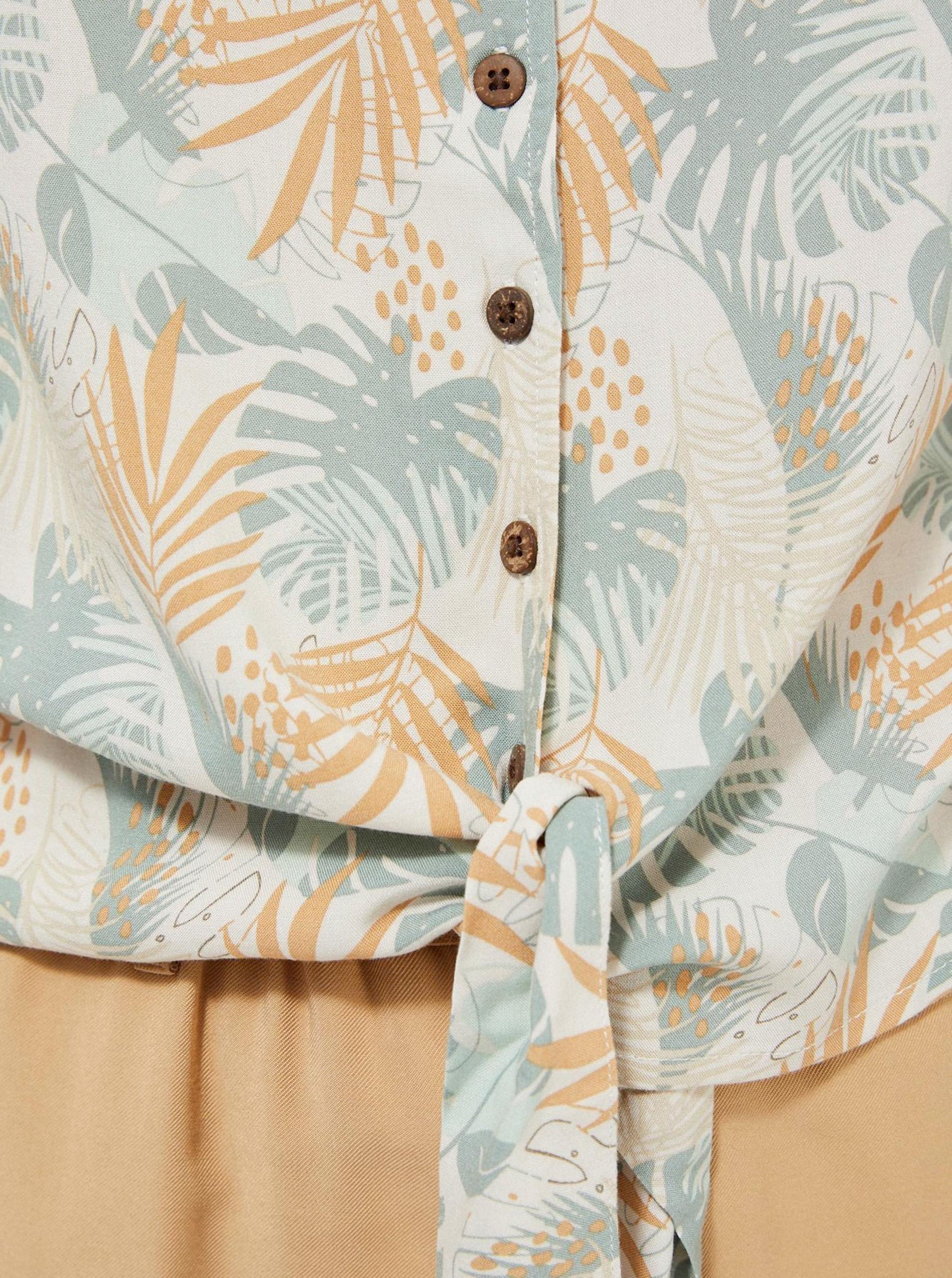 Moodo beige camicetta con motivo floreale