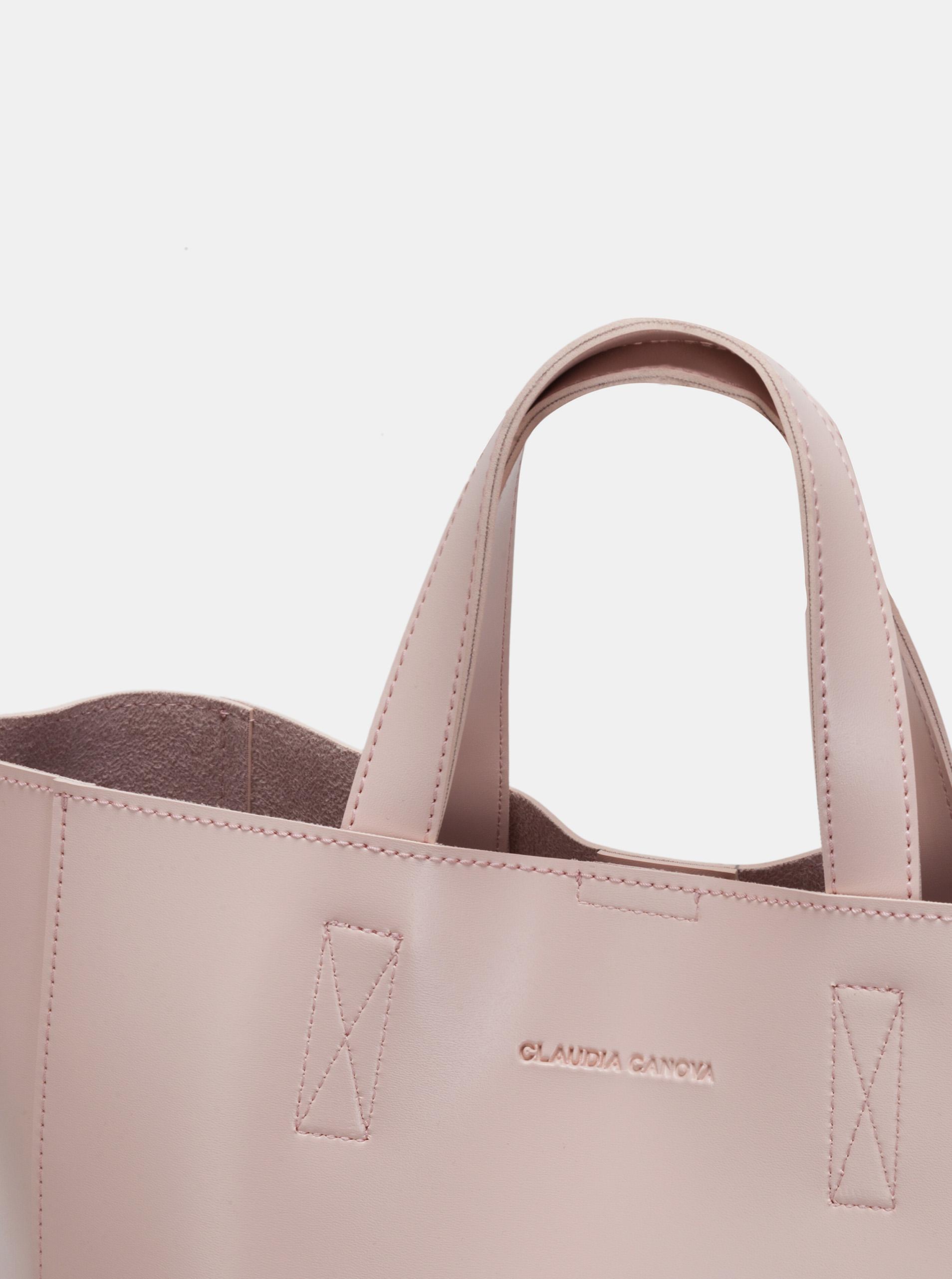 Claudia Canova rosa grande borsetta