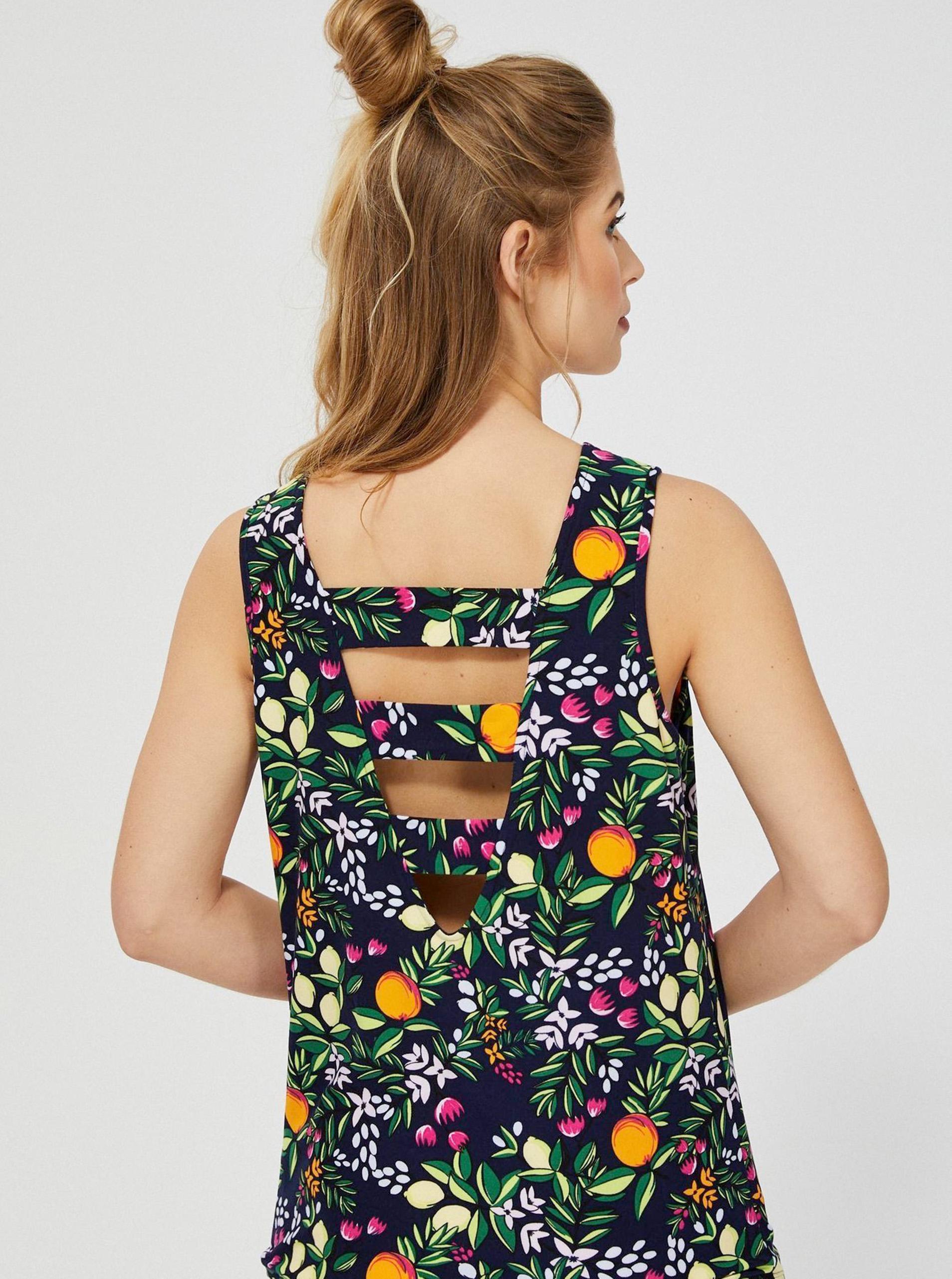 Moodo multicolore canottiera con motivo floreale