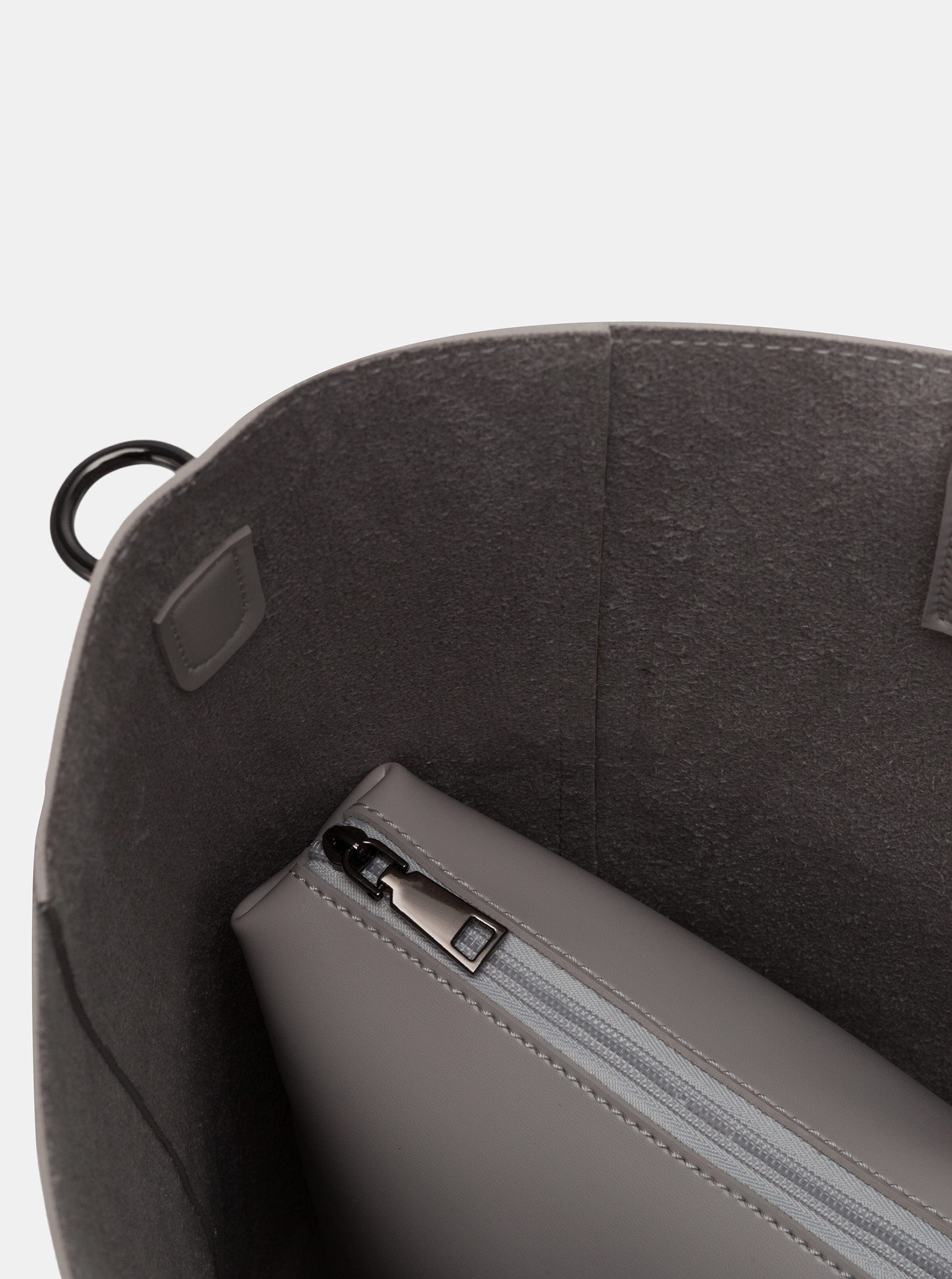 Claudia Canova grigio grande borsetta
