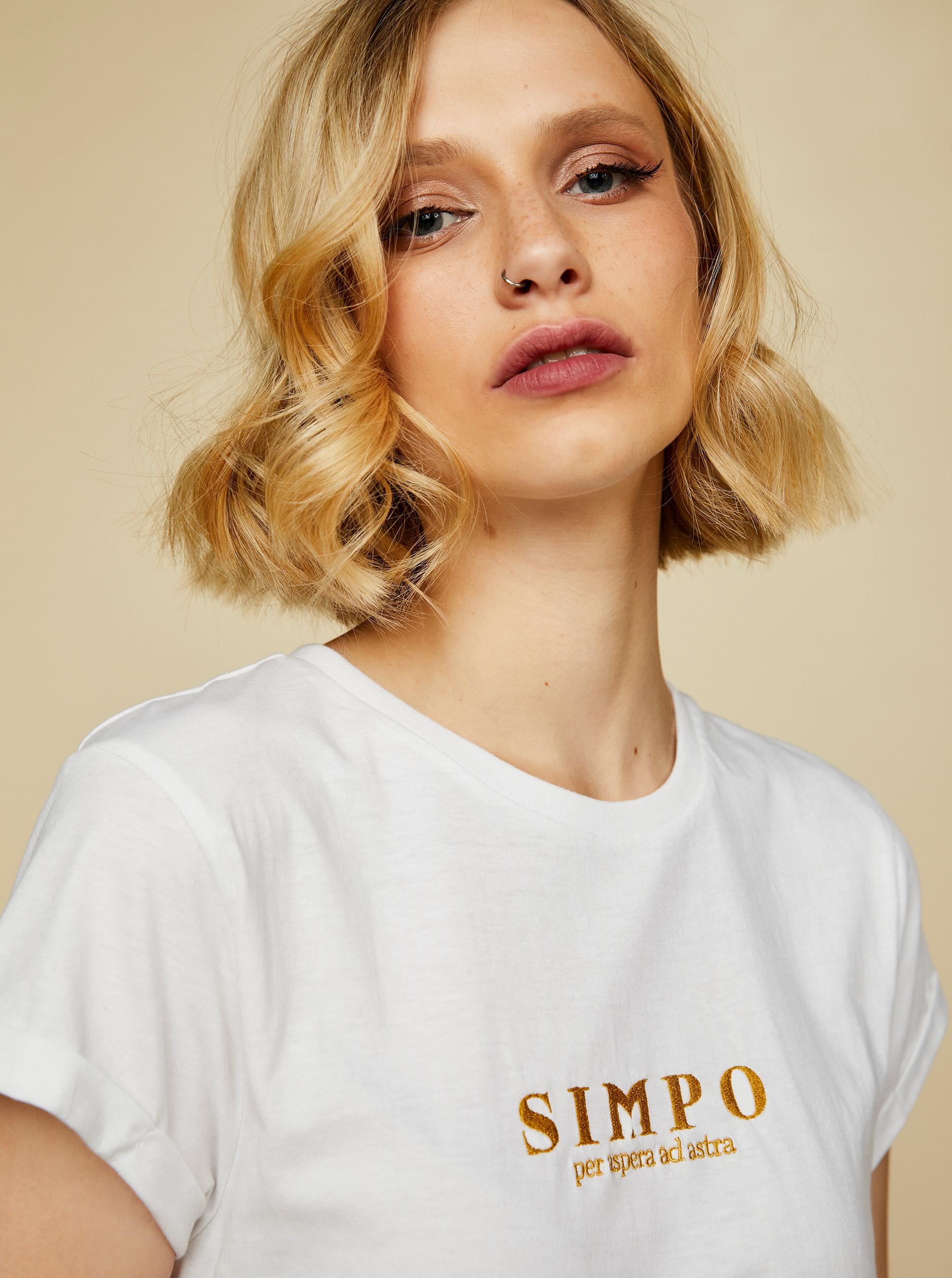 Simpo t-shirt crema Bottiglia
