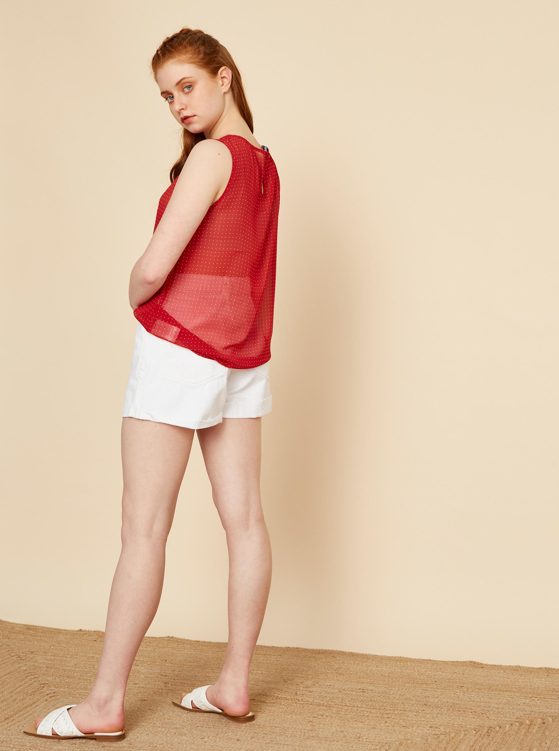 ZOOT rosso camicetta Tina