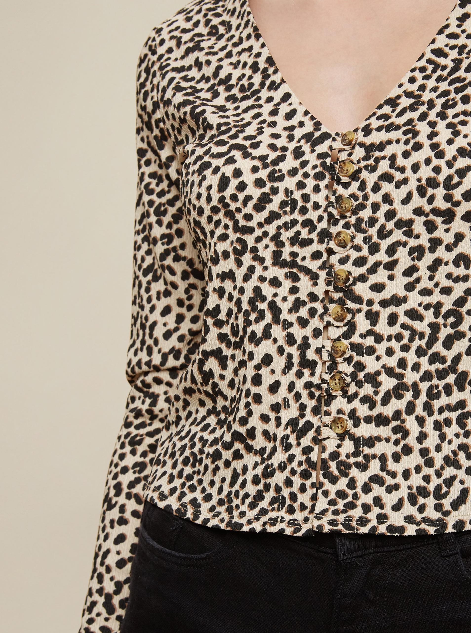 Dorothy Perkins beige maglietta ritagliata s knoflíky