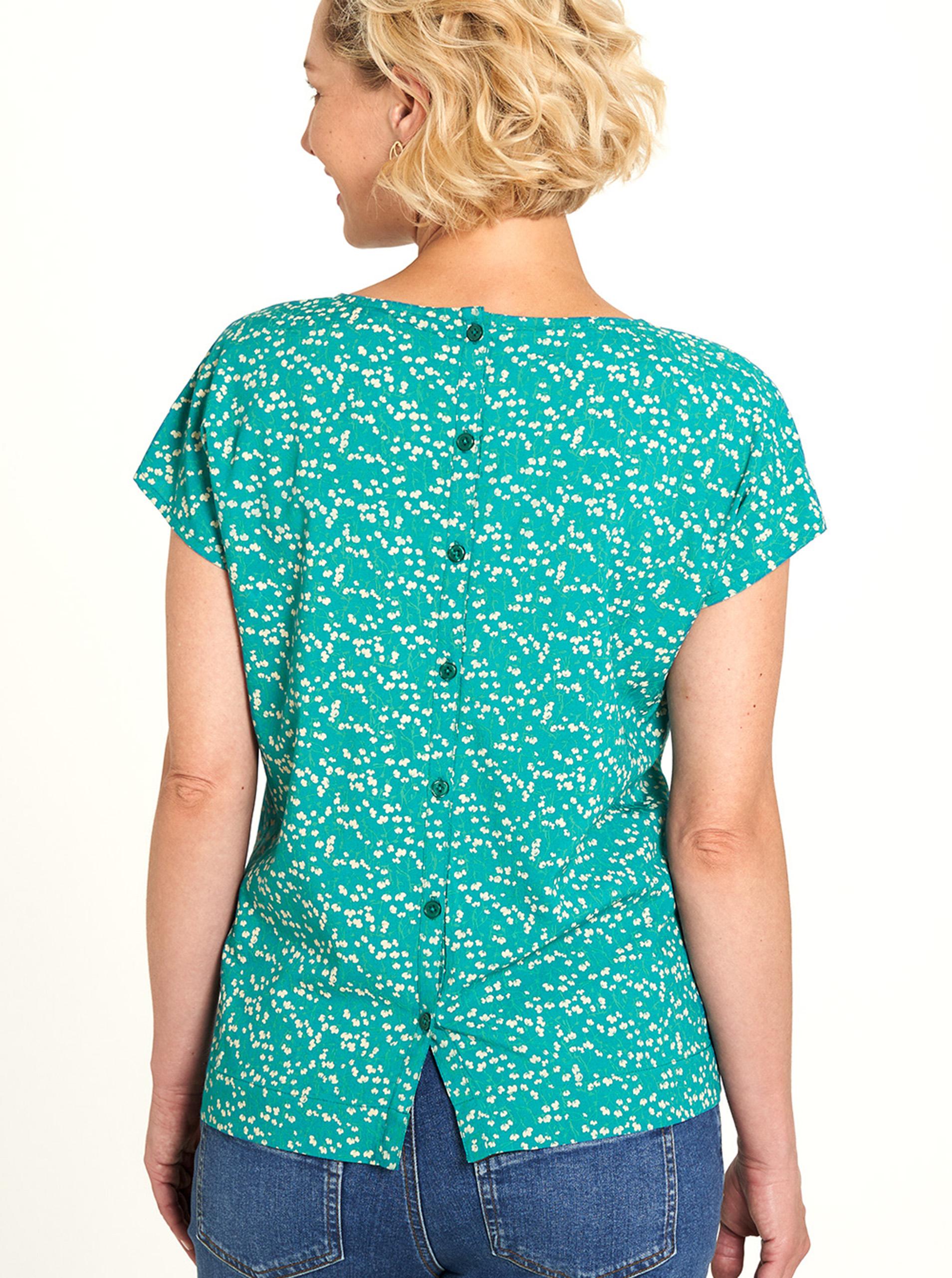 Tranquillo turchese maglietta con motivo floreale