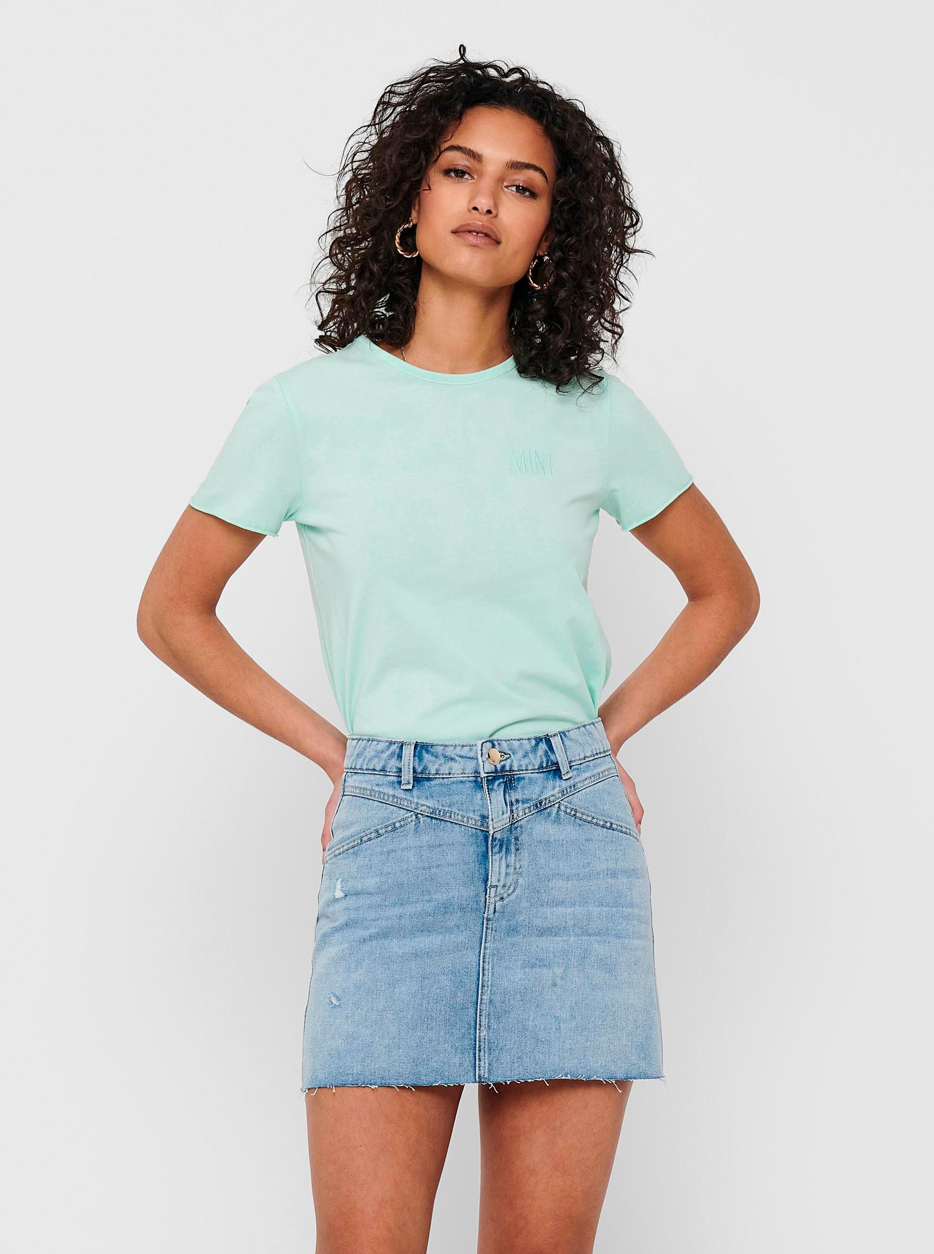 Only verde basic da donna maglietta Fruity