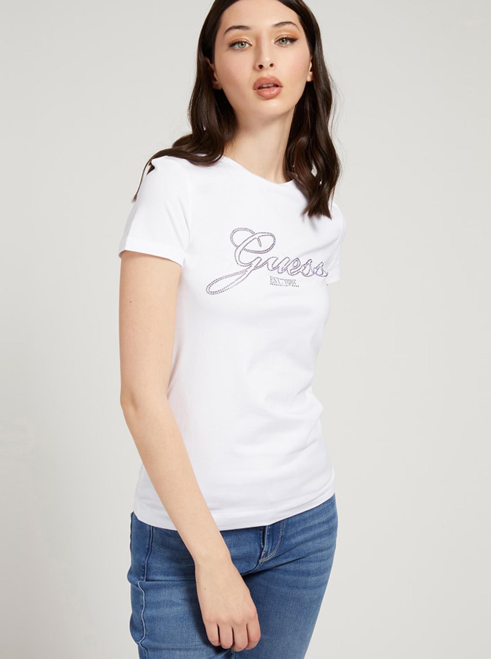 Guess bianco maglietta Selina