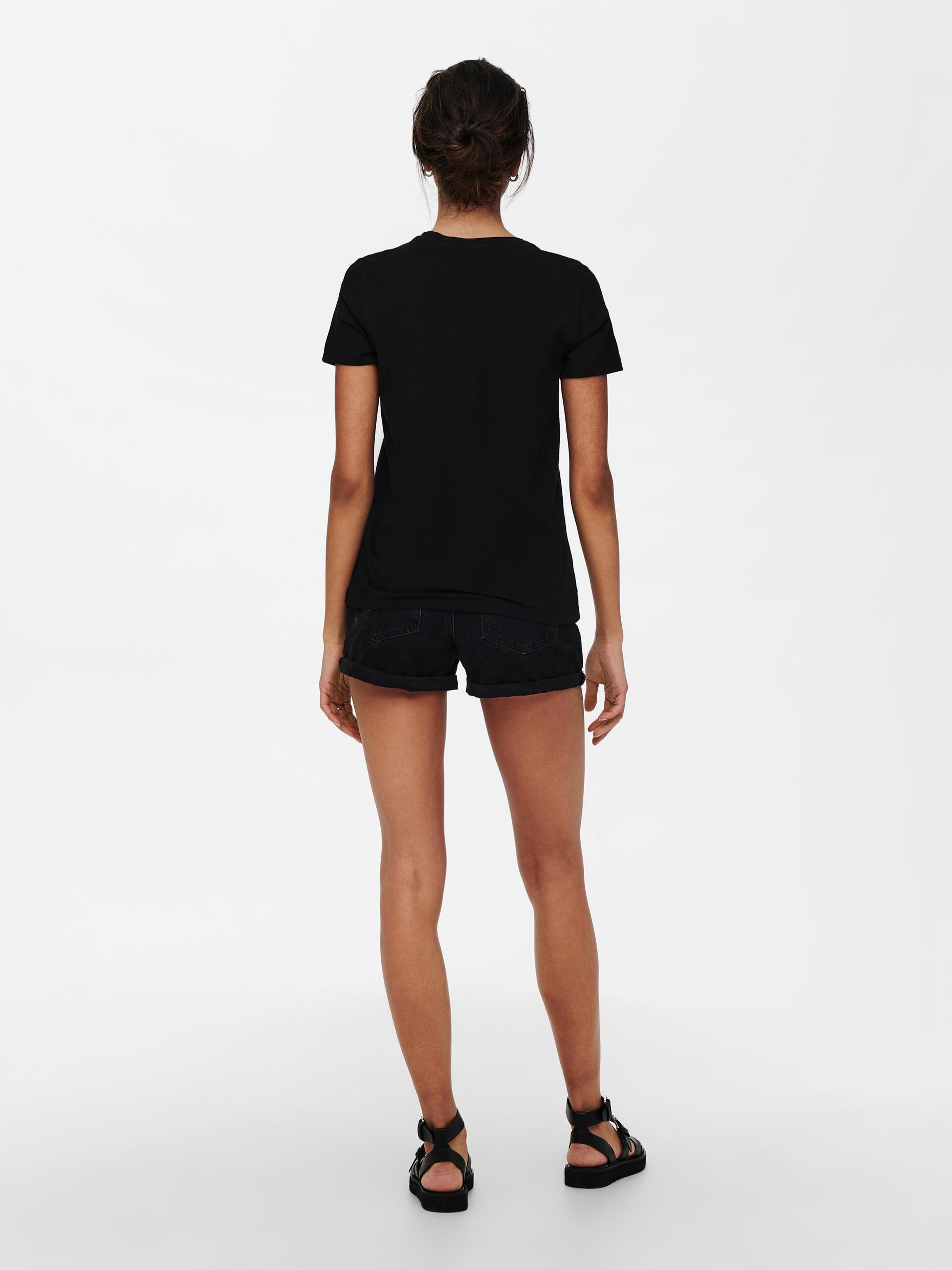 Only nero da donna maglietta Lana