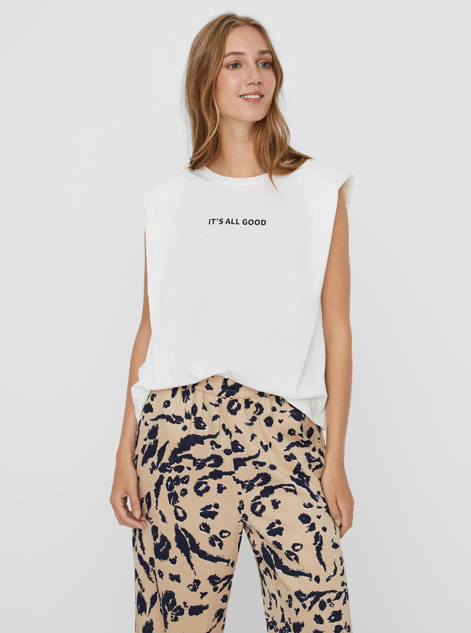 Vero Moda bianco maglietta Hollie