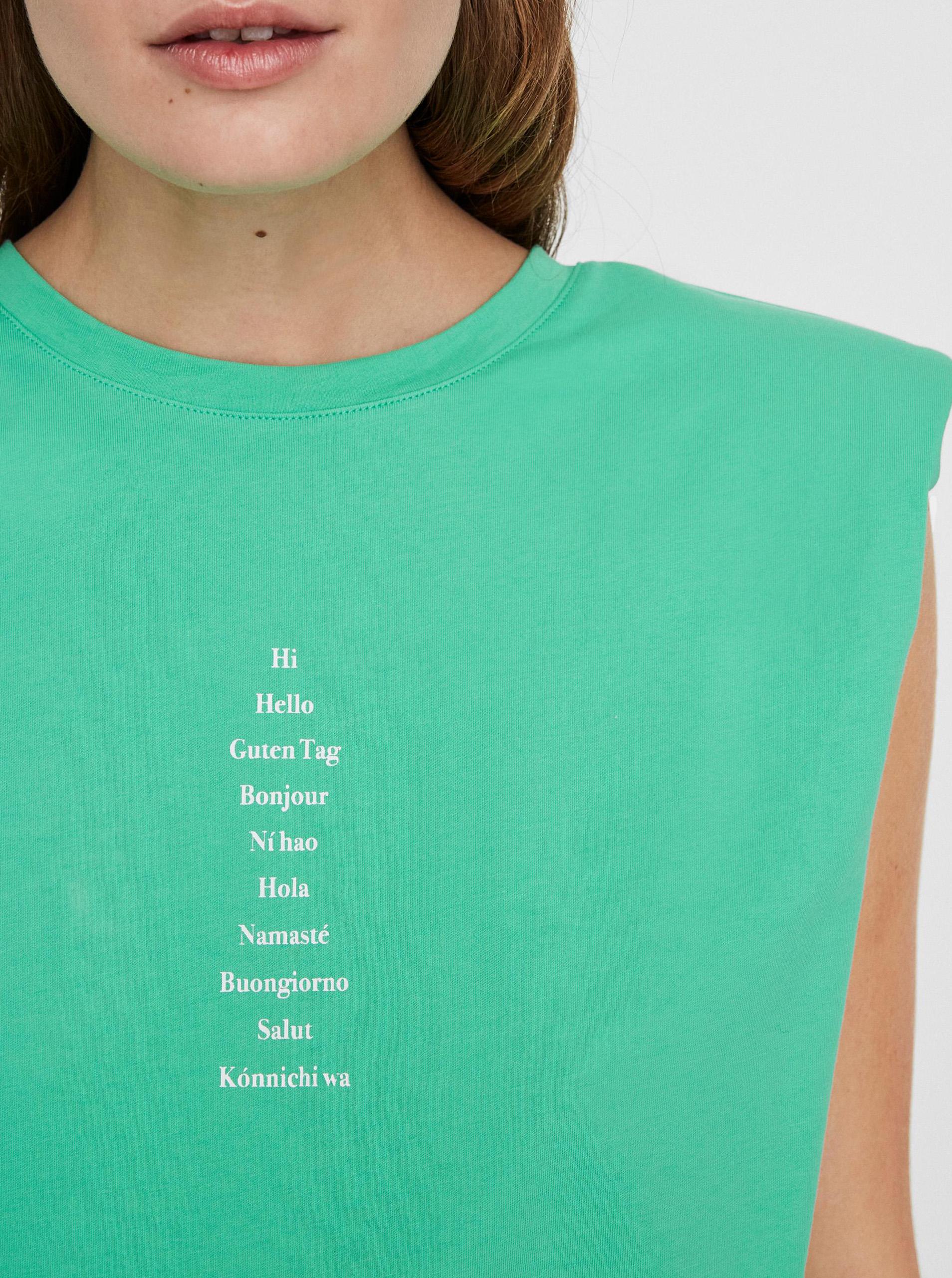 Vero Moda verde maglietta Hollie