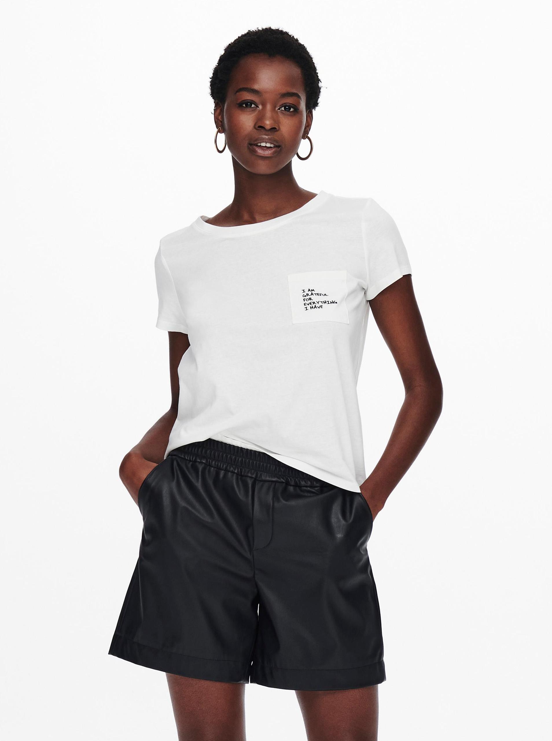 Jacqueline de Yong bianco maglietta Dina