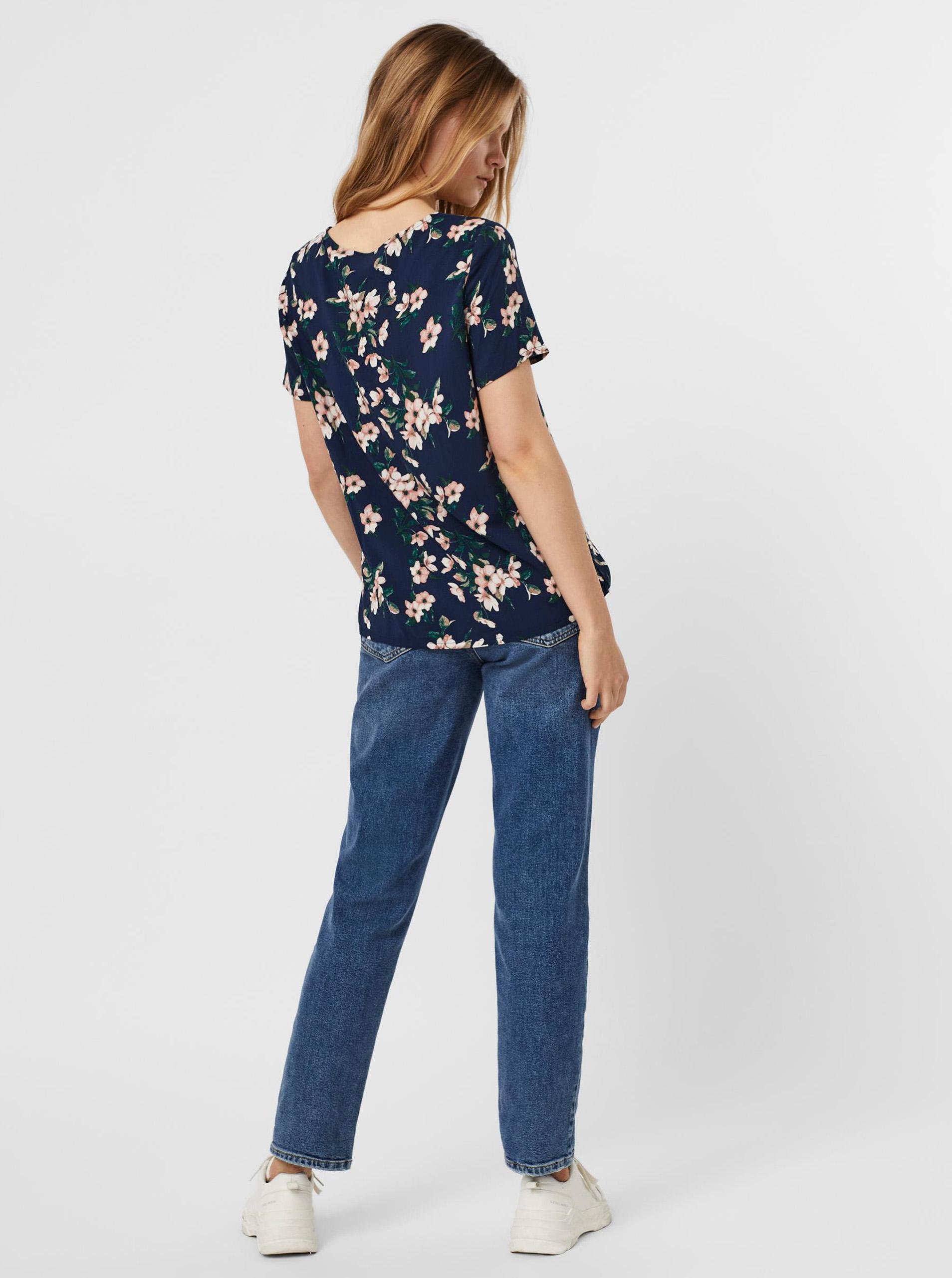 Vero Moda blu camicetta Easy con motivo floreale