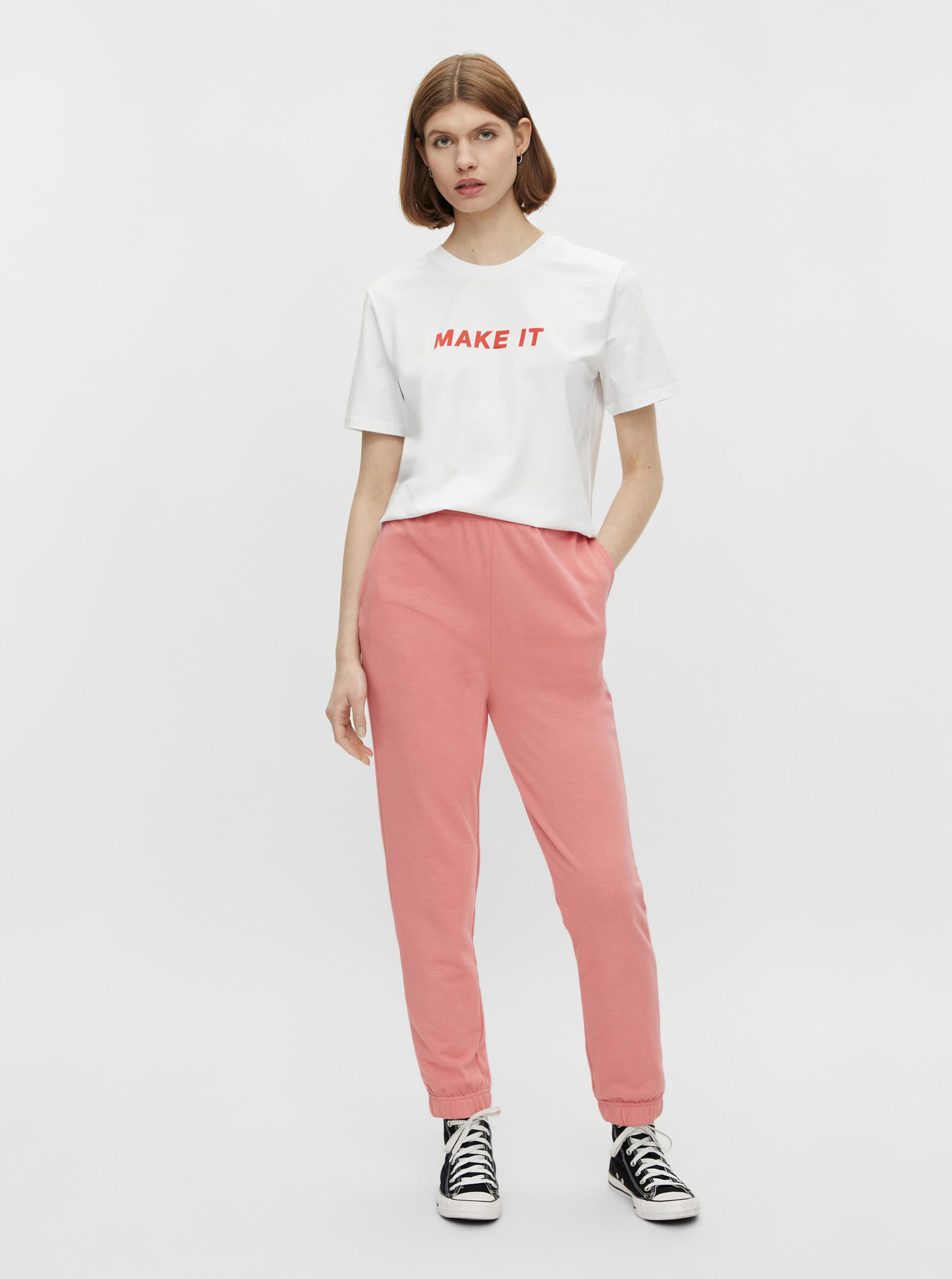 Pieces bianco maglietta Niru