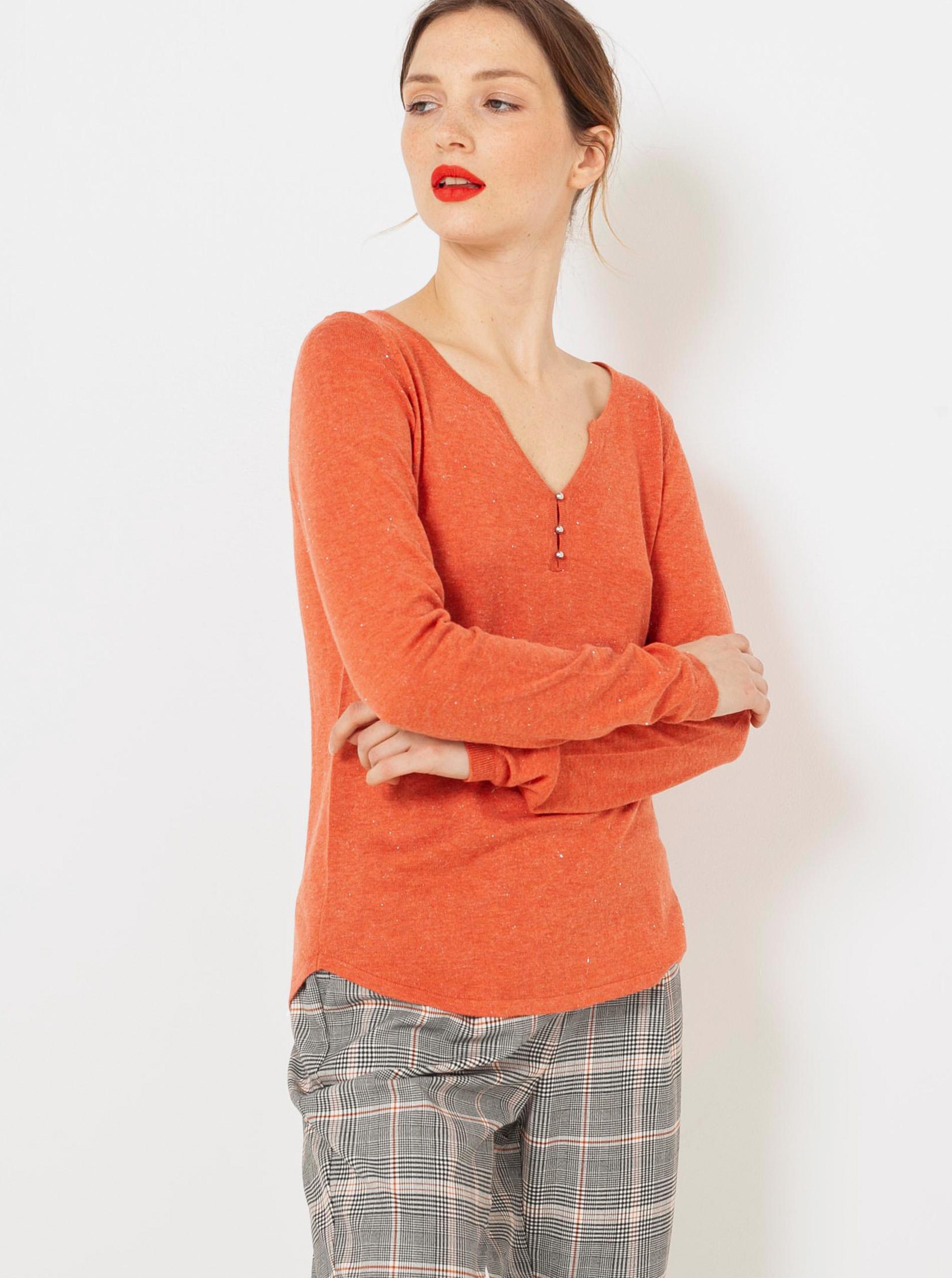 CAMAIEU arancione da donna maglietta