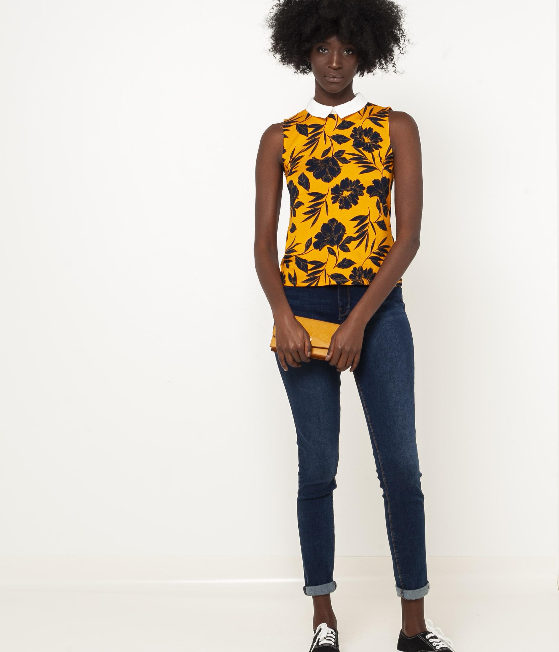 CAMAIEU Blusa donna giallo