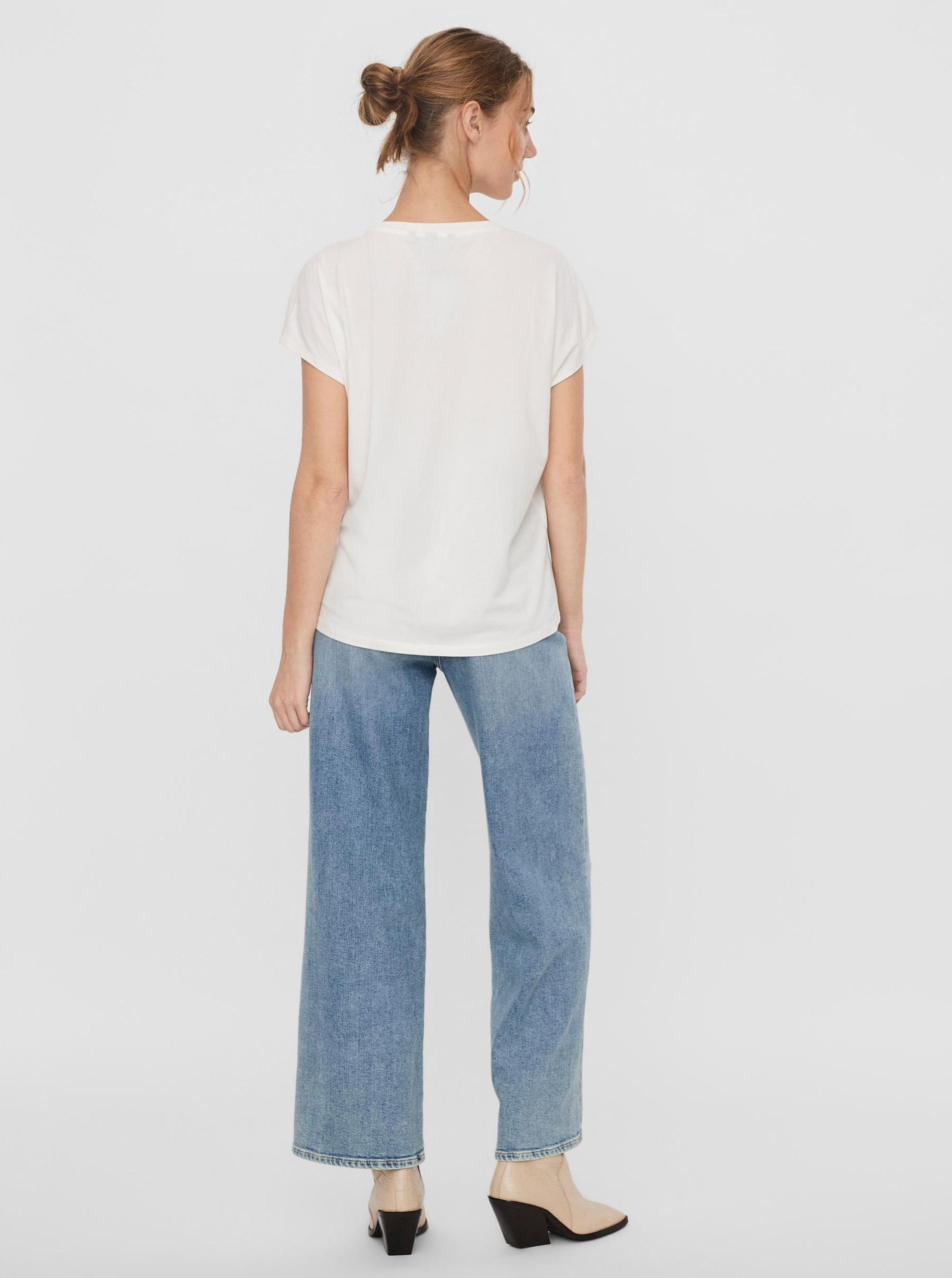 Vero Moda bianco maglietta Giava con stampa