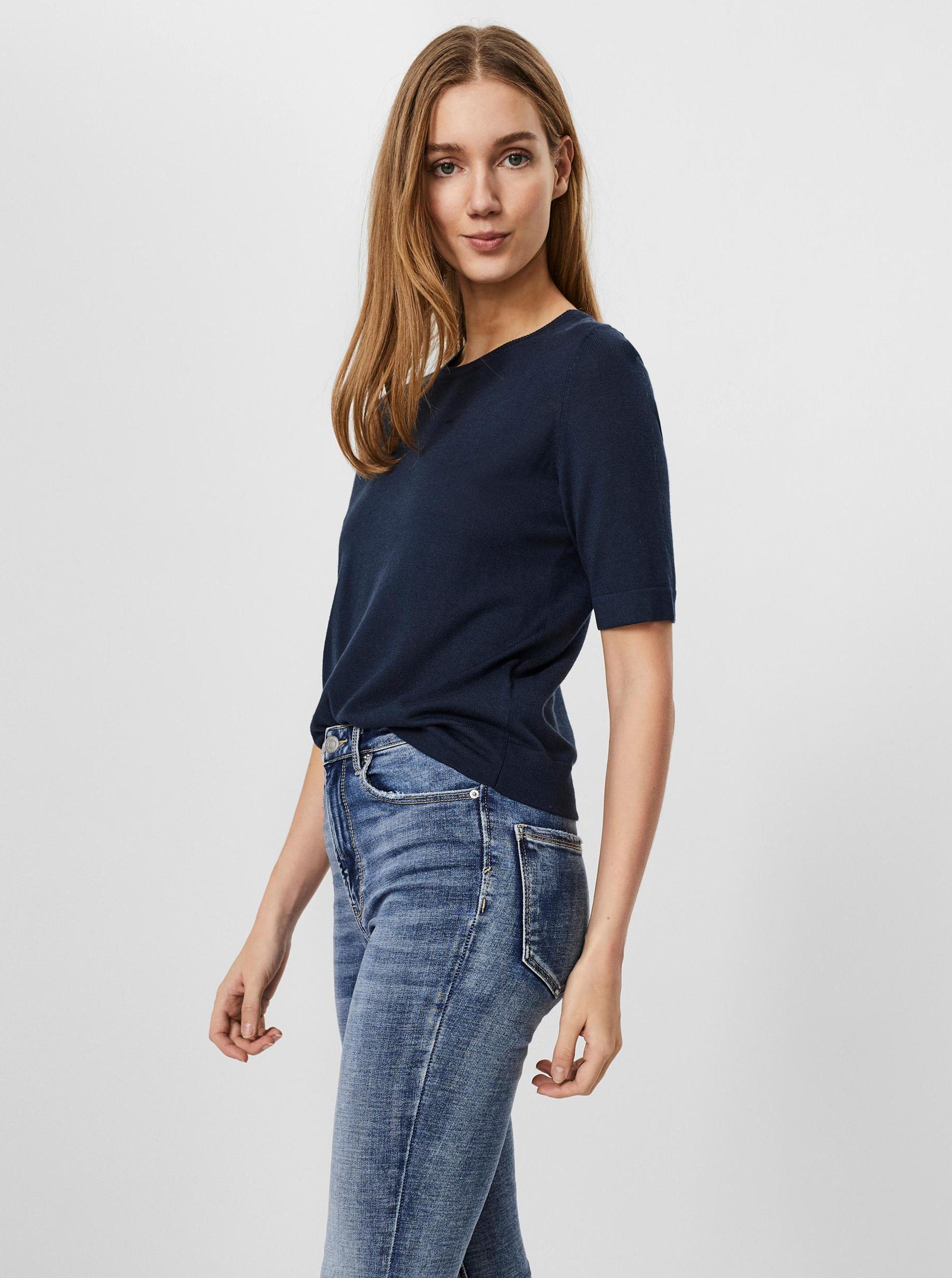 Vero Moda blu maglietta Silke