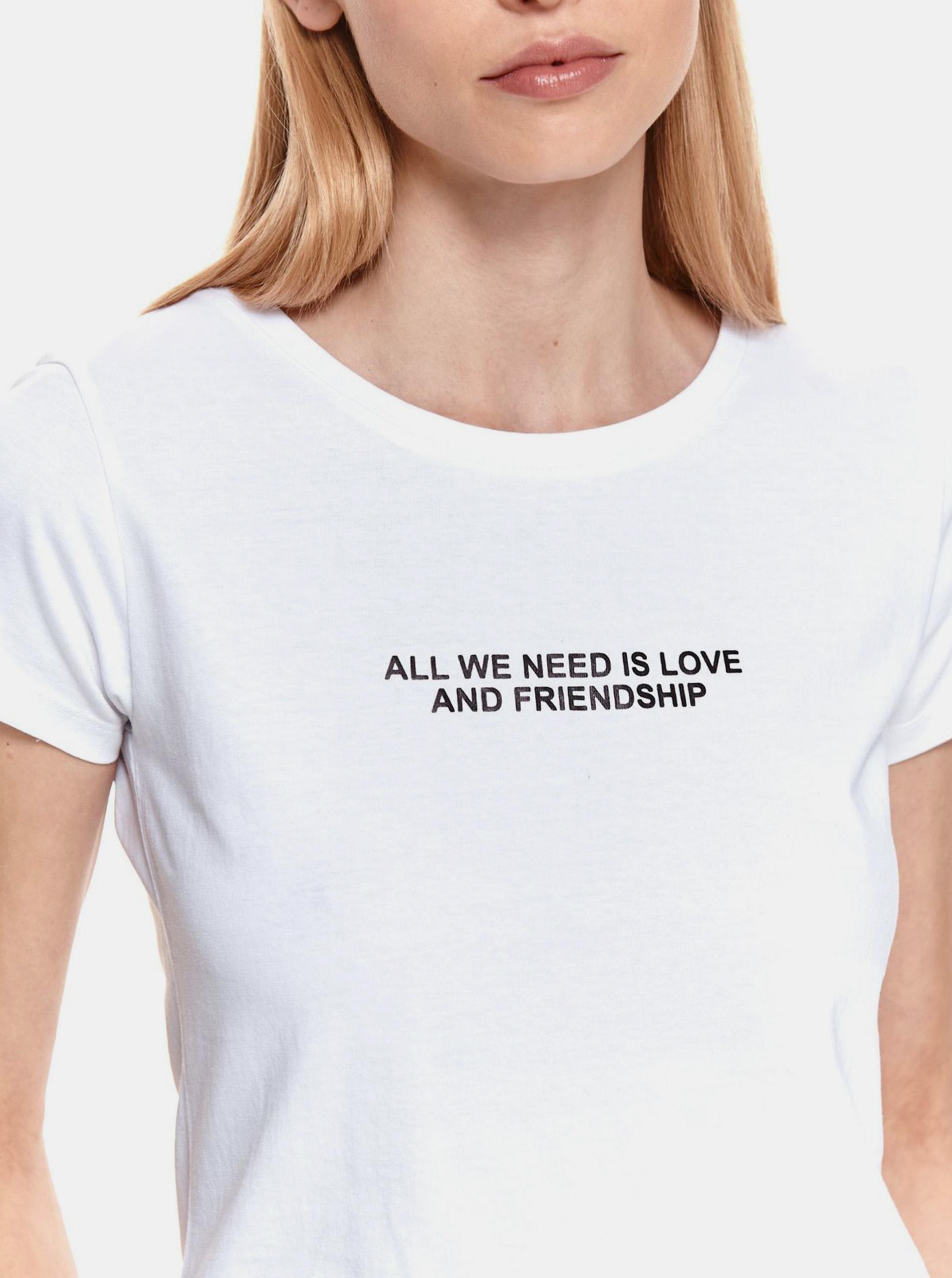 TOP SECRET bianco maglietta