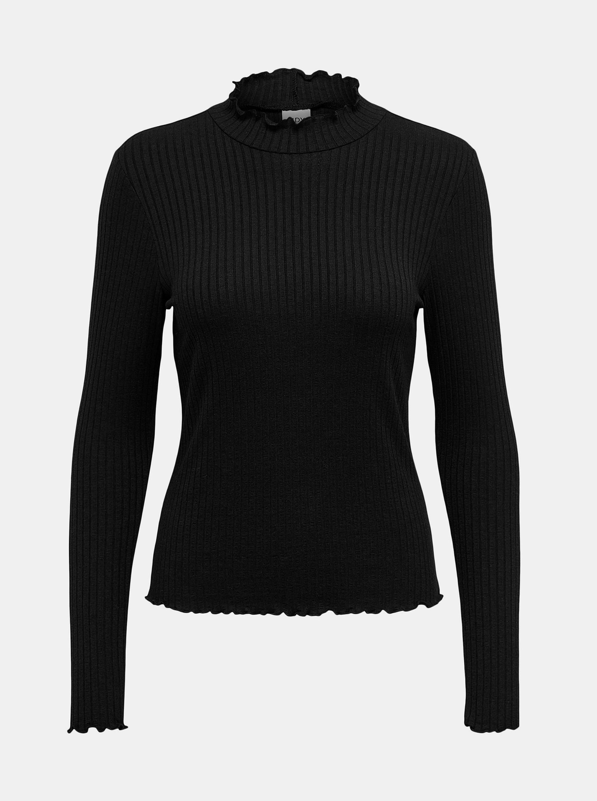 Jacqueline de Yong nero maglietta Fransiska con dolcevita