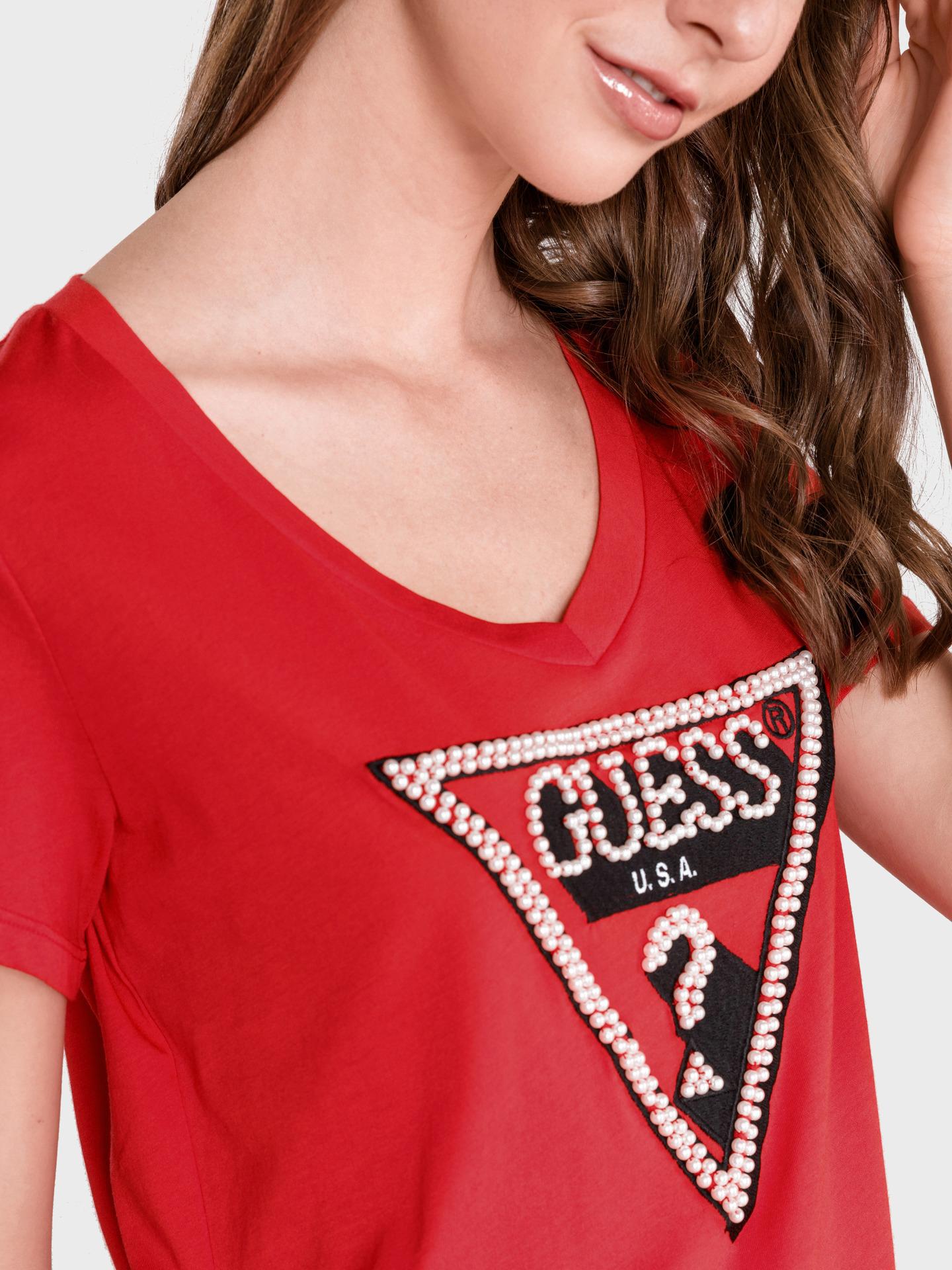 Guess rosso maglietta