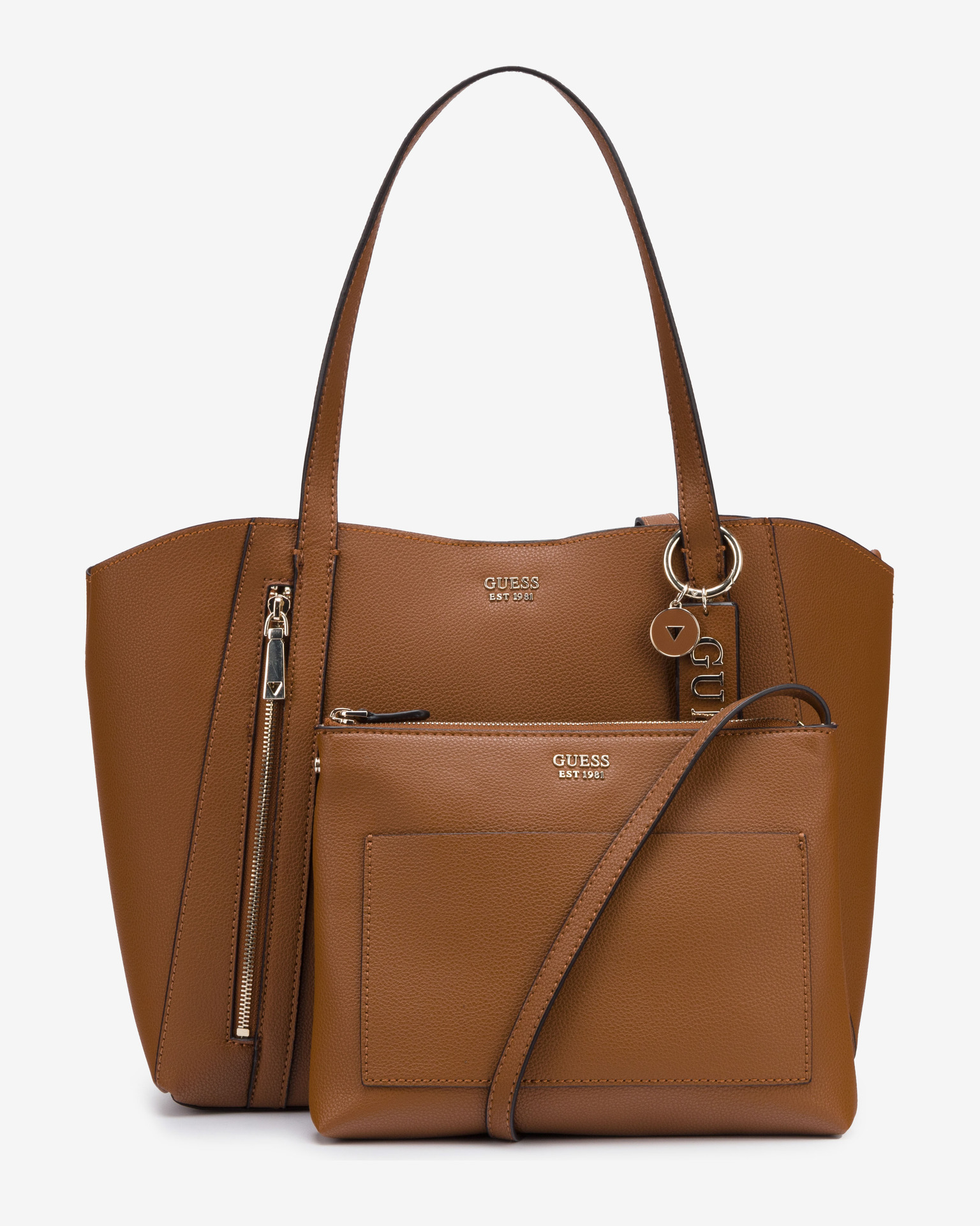 Guess marrone 2in1 borsetta Naya Front Zip