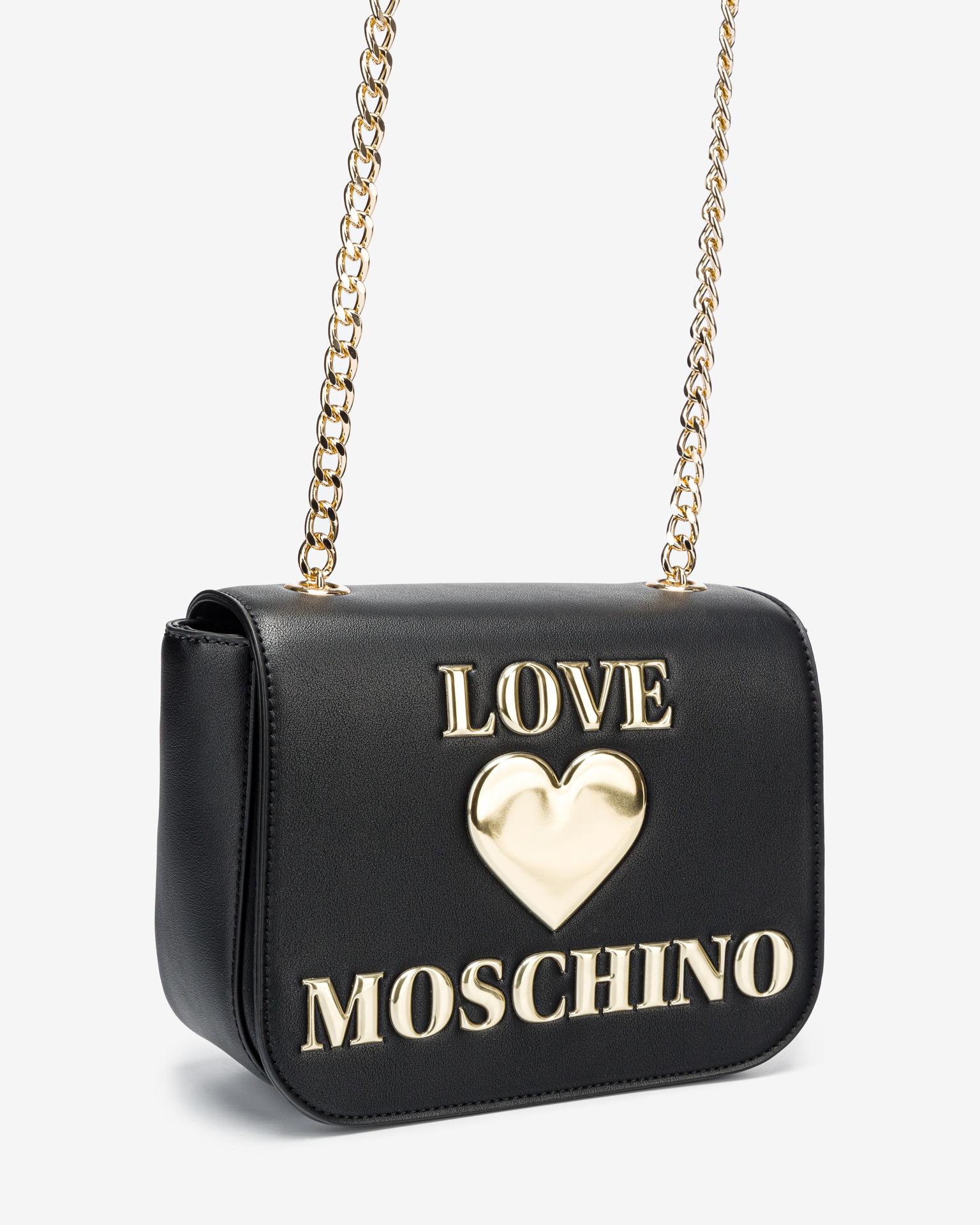 Love Moschino nero crossbody borsetta