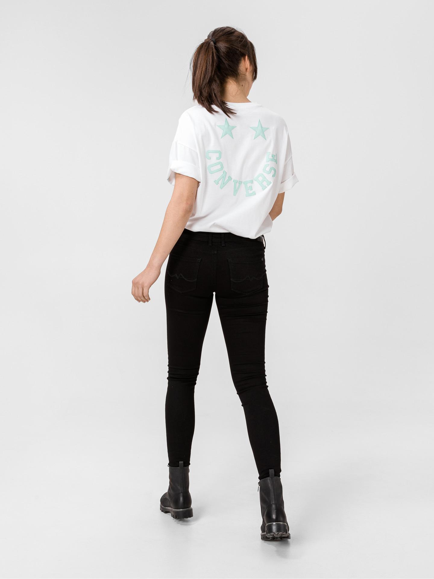 Converse bianco da donna maglietta Twisted Varsity