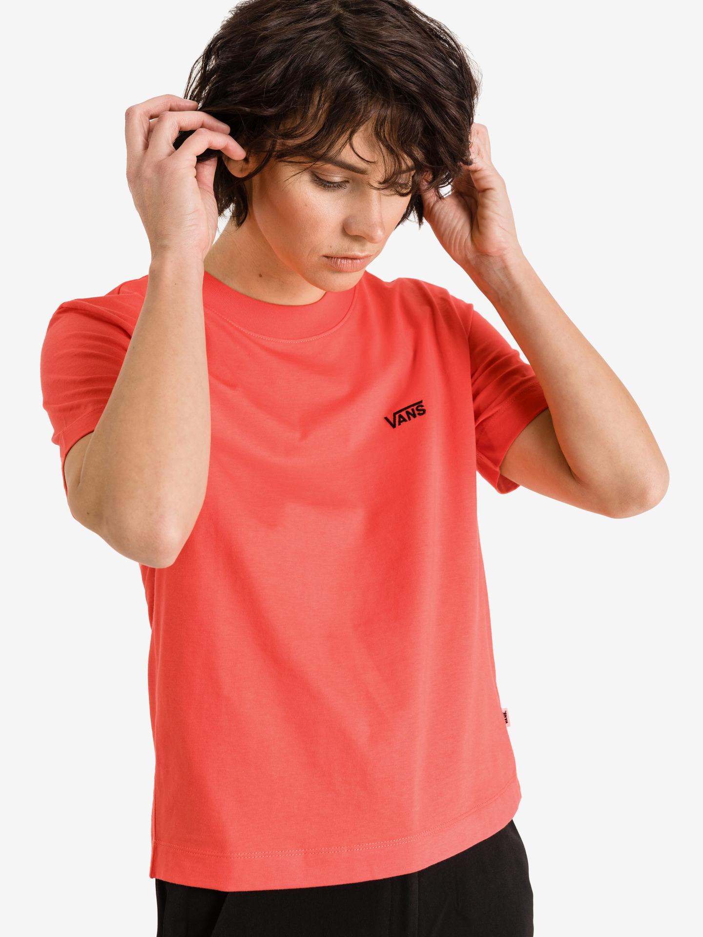 Vans rosso maglietta Junior V Boxy