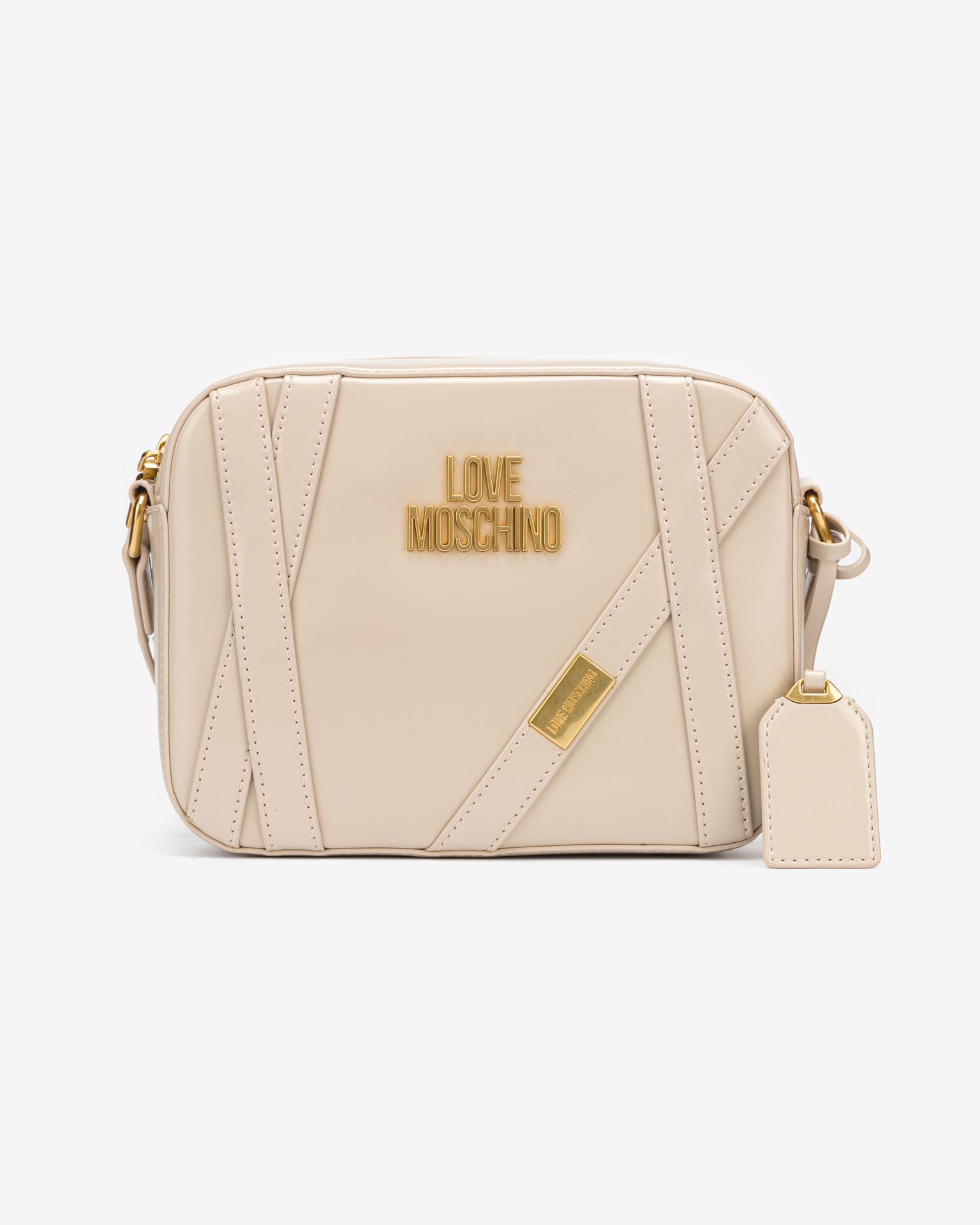 Love Moschino beige crossbody borsetta