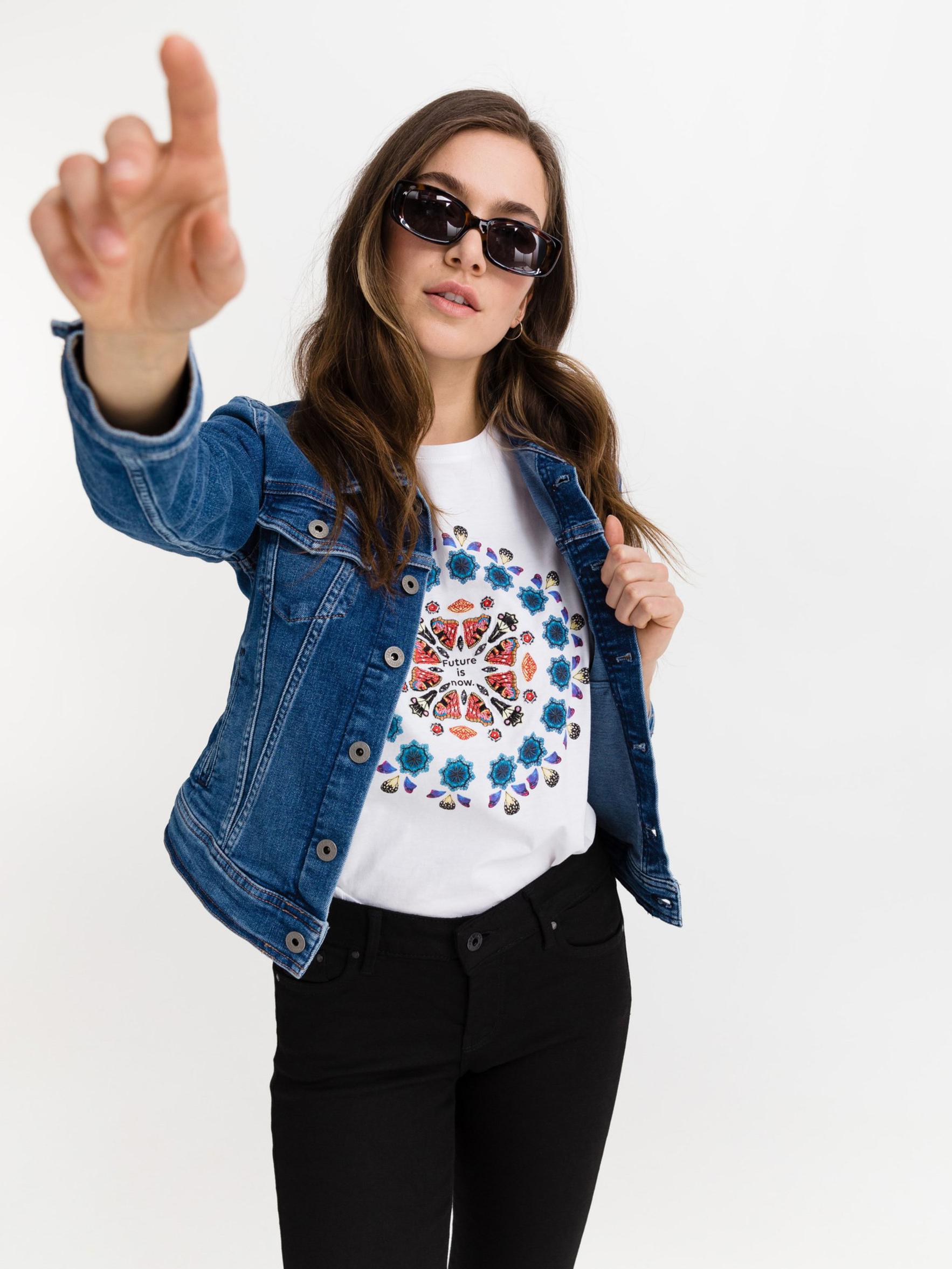 Desigual bianco maglietta Oversize Galactic