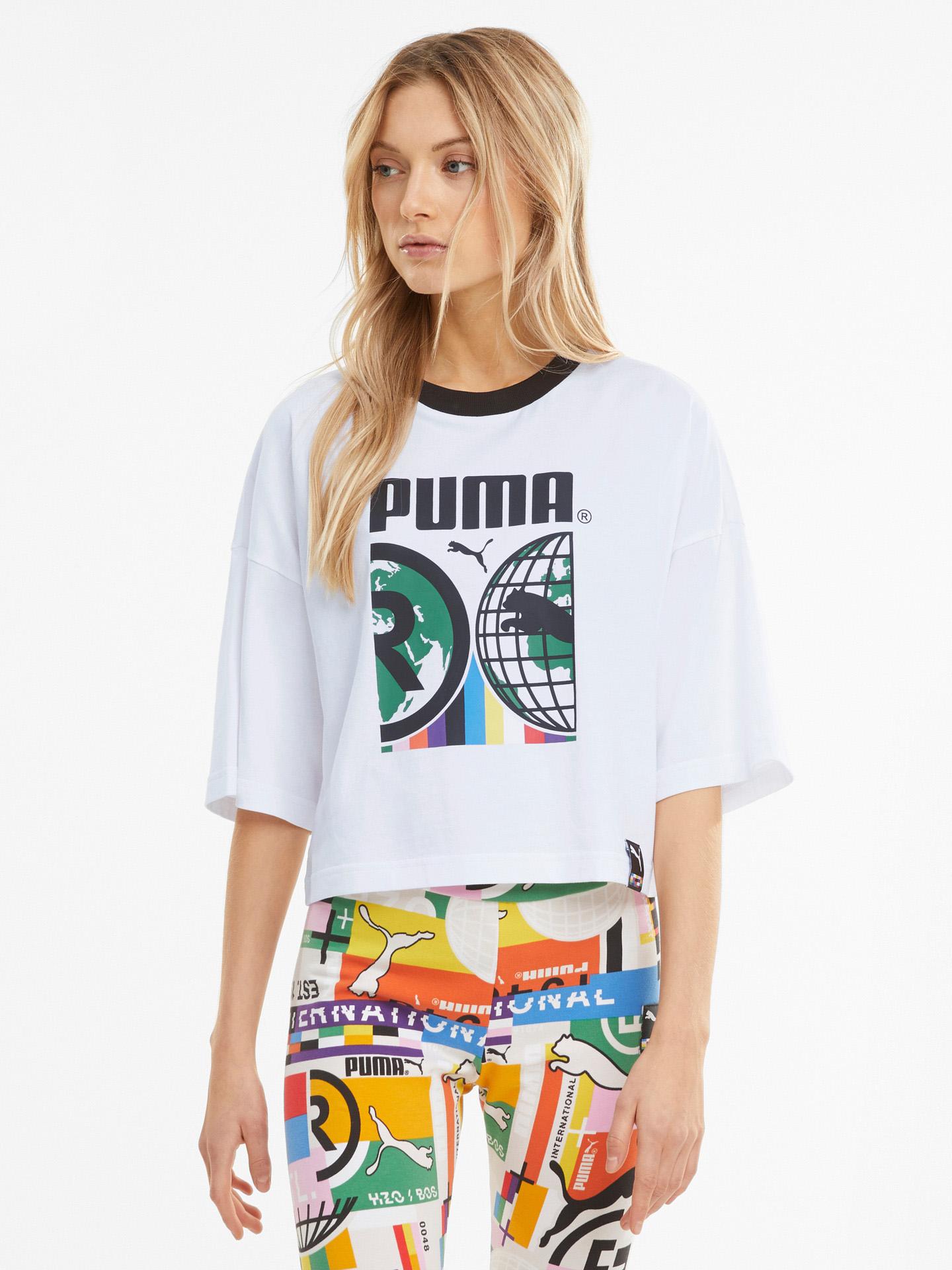 Puma bianco da donna maglietta PI Graphic