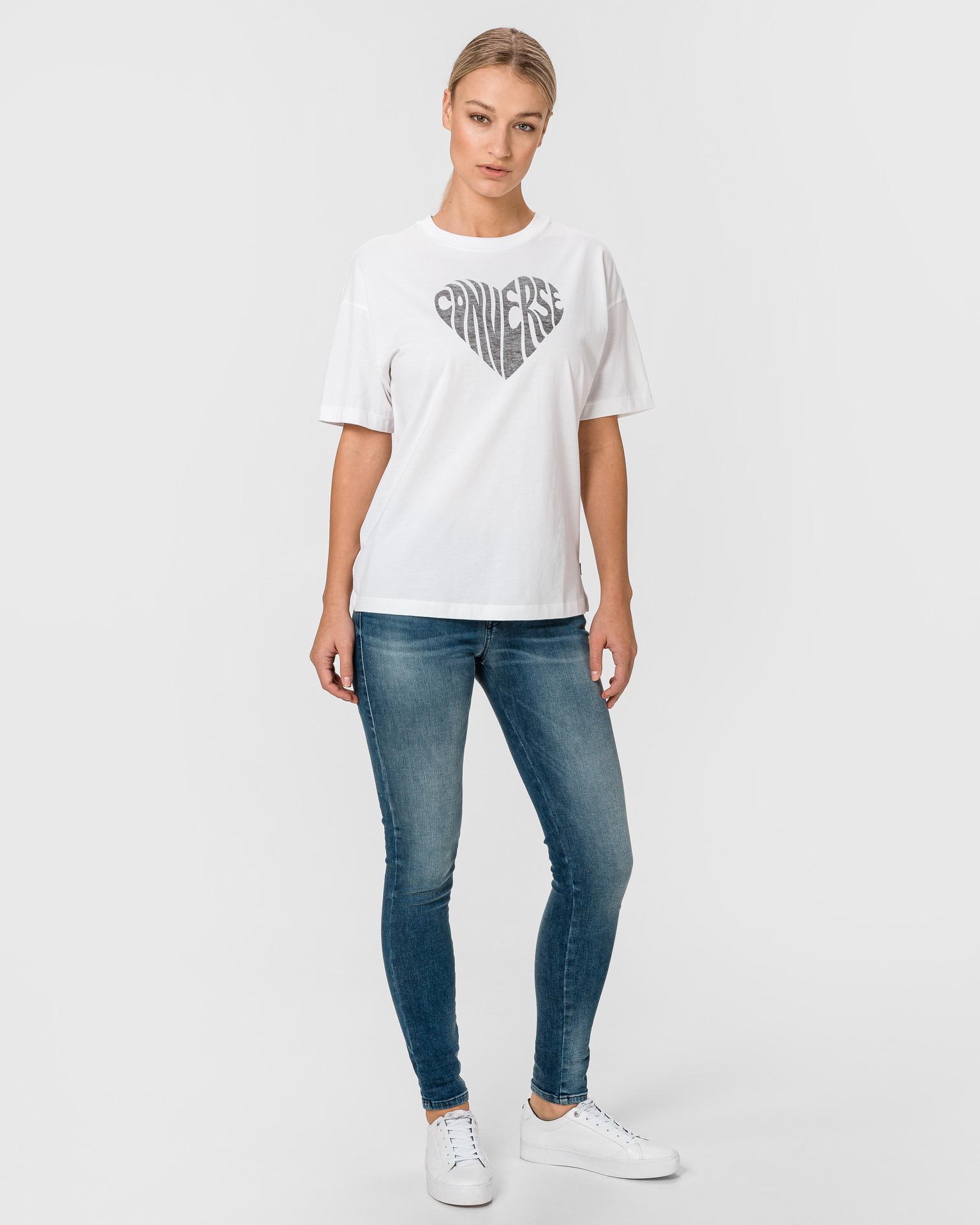 Converse bianco da donna maglietta Heart Reverse