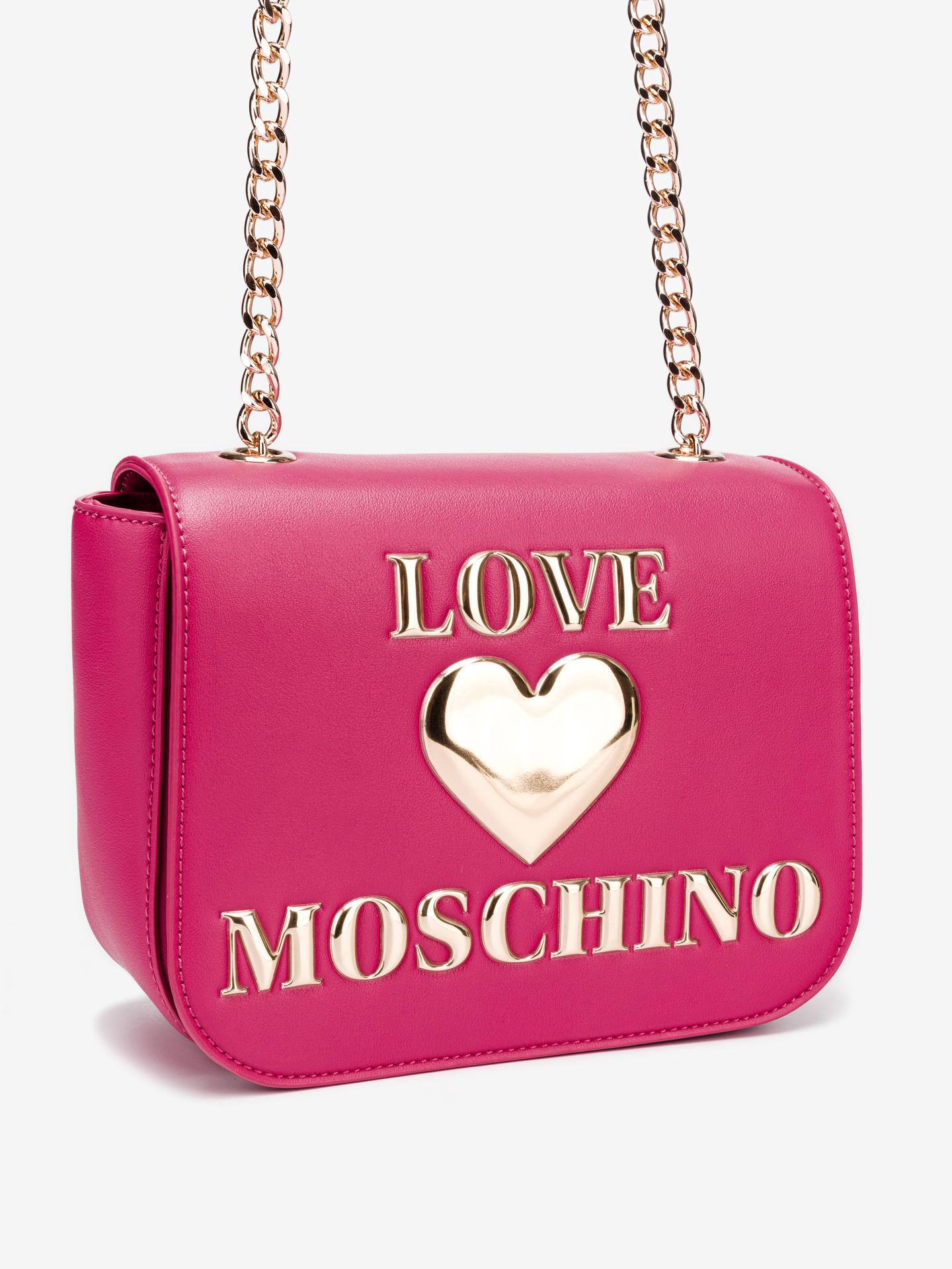 Love Moschino rosa crossbody borsetta