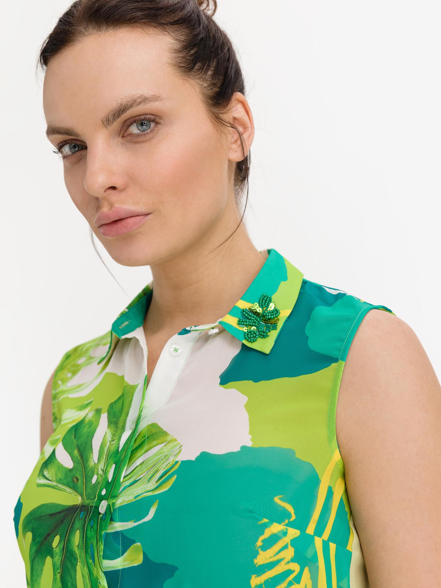 Guess verde da donna camicetta Clouis