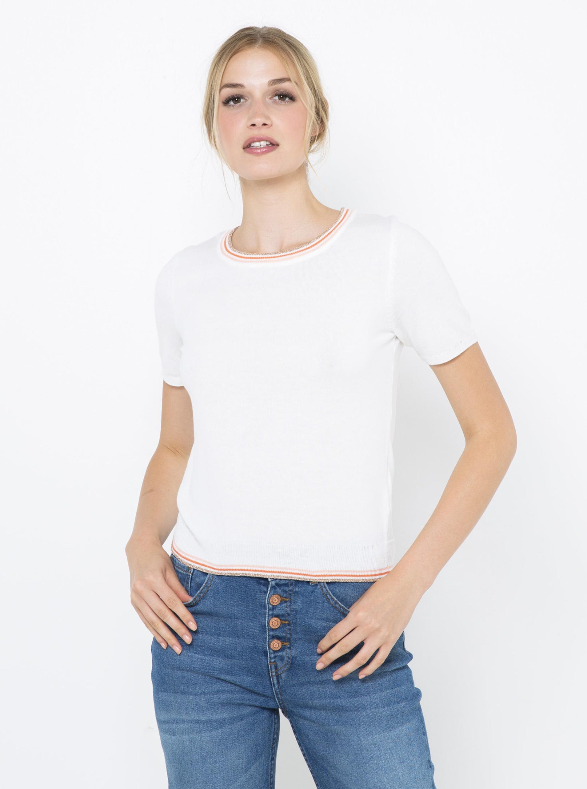 CAMAIEU bianco da donna maglietta
