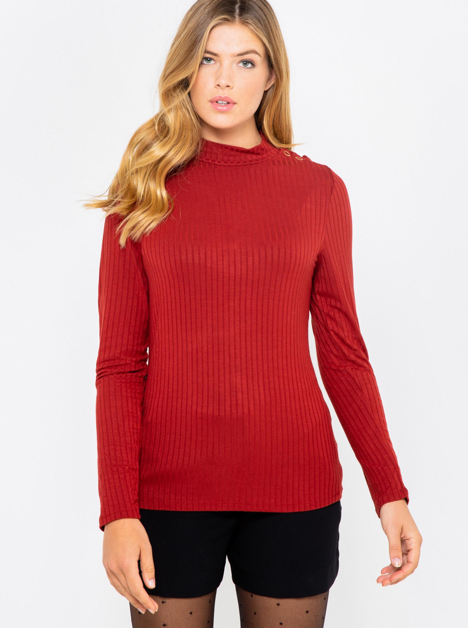 CAMAIEU rosso maglietta