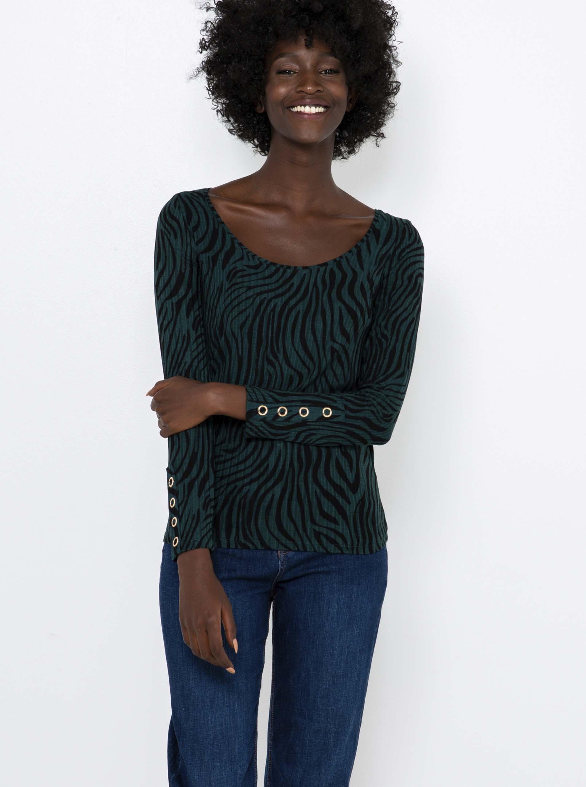 CAMAIEU verde da donna maglietta
