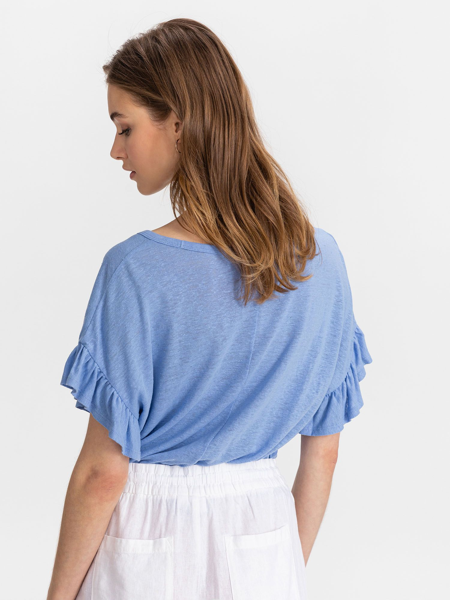 GAP blu maglietta Linen