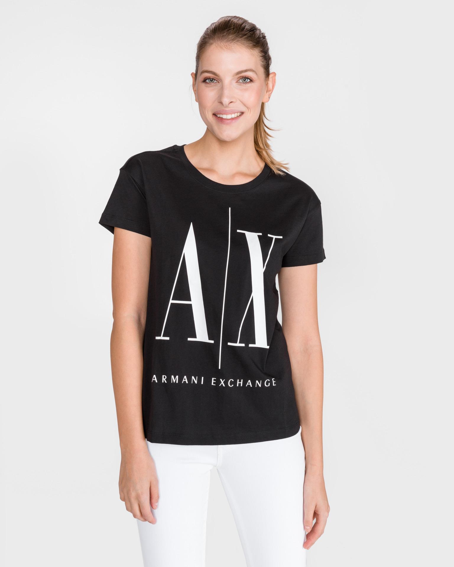 Armani Exchange nero da donna maglietta