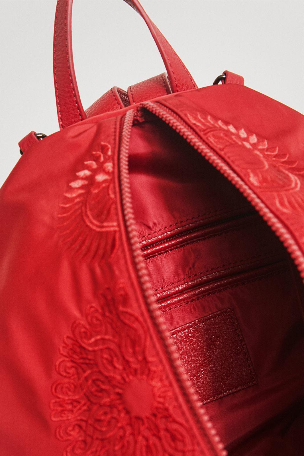Desigual rosso zaino Mandarala Viana