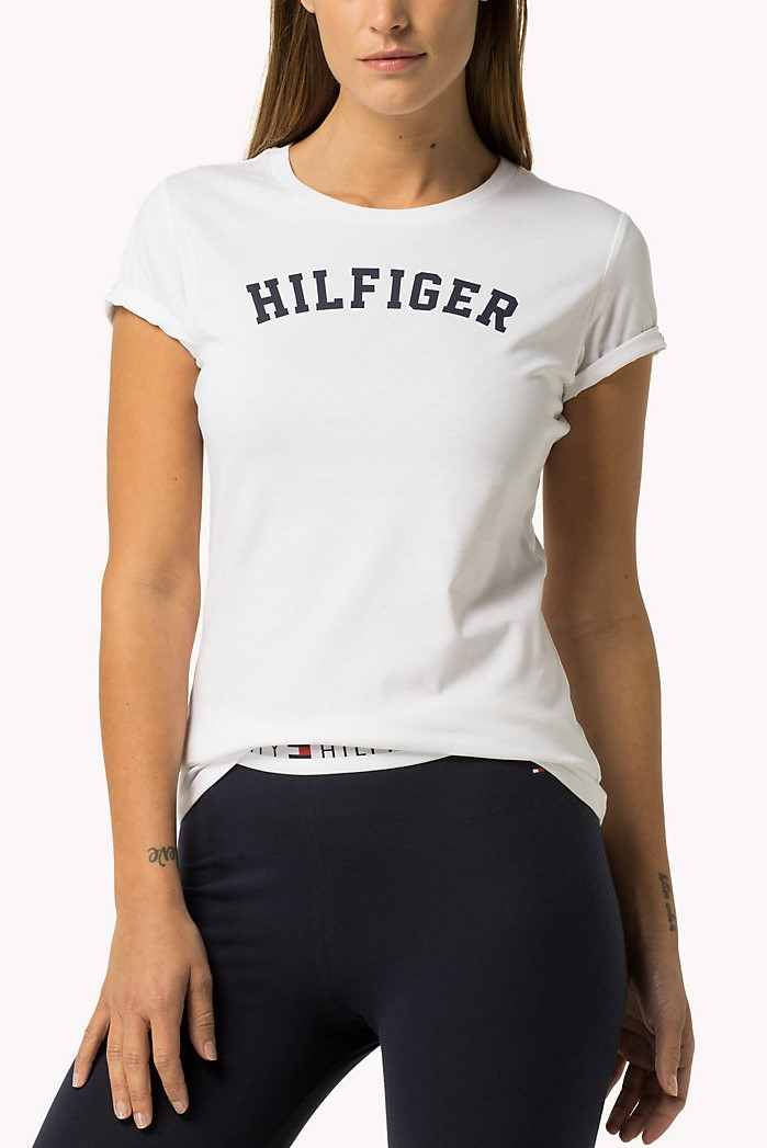 T-shirt bianca con stampa T-shirt Tommy Hilfiger