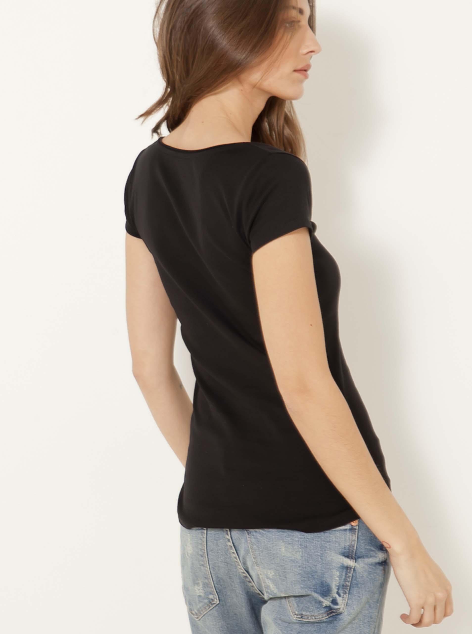 CAMAIEU nero da donna maglietta