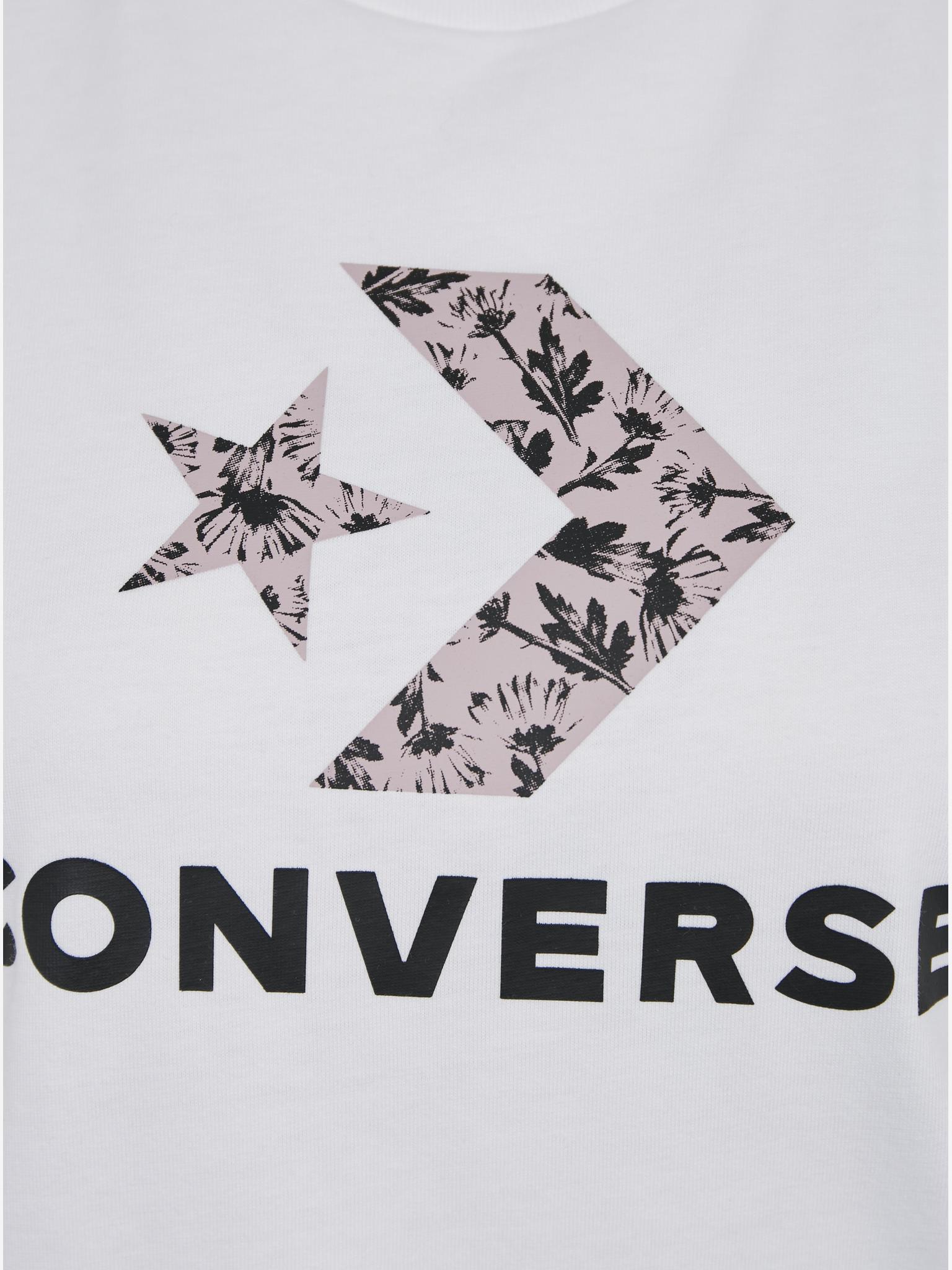 Converse Maglietta donna bianco  Star
