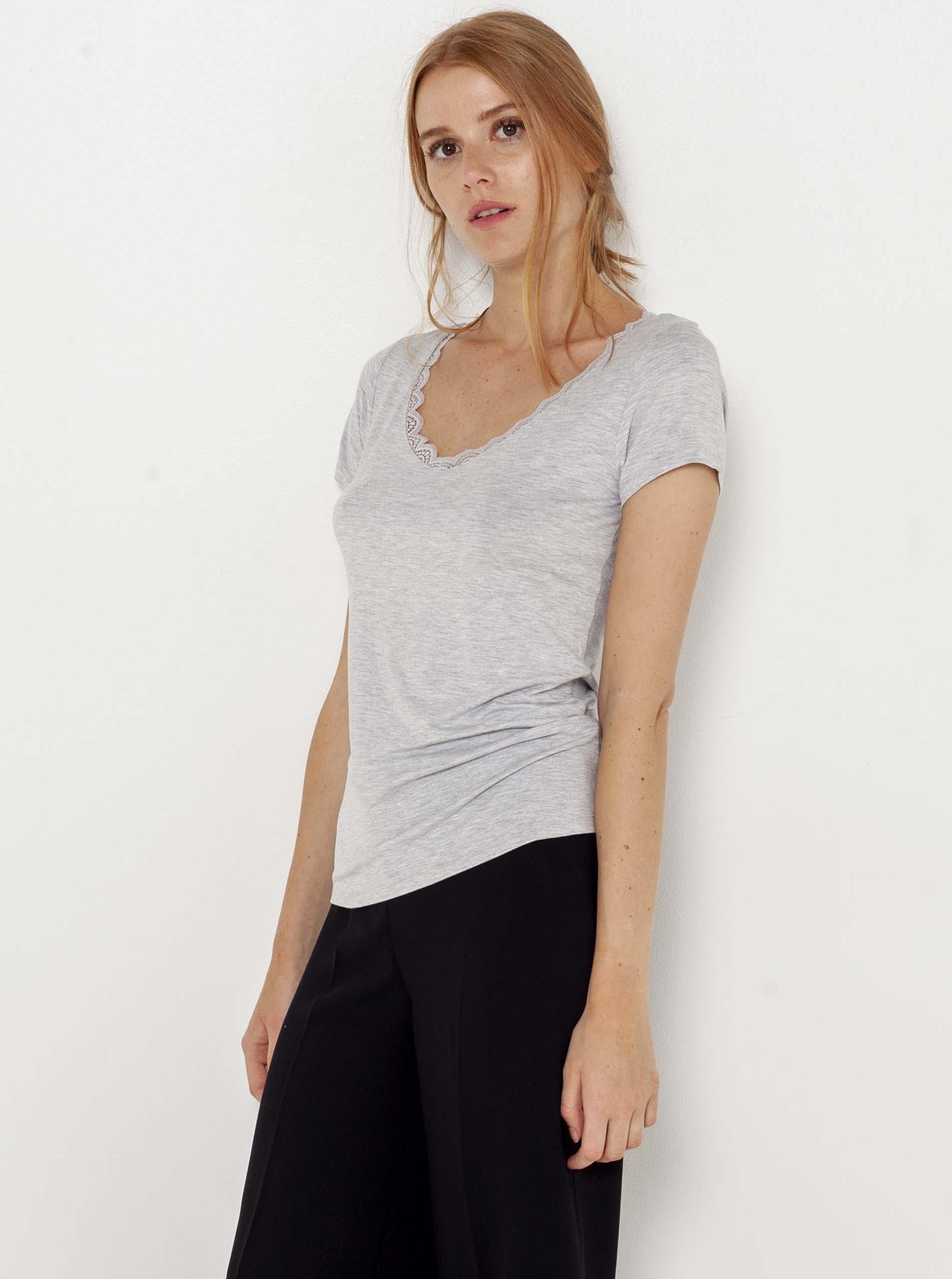 CAMAIEU grigio maglietta