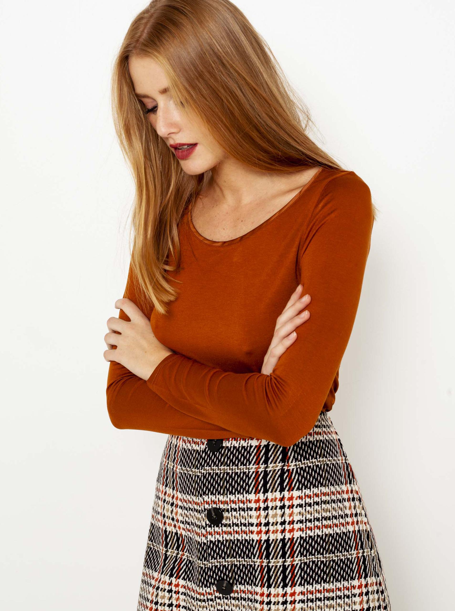 CAMAIEU Maglietta donna rosso mattone