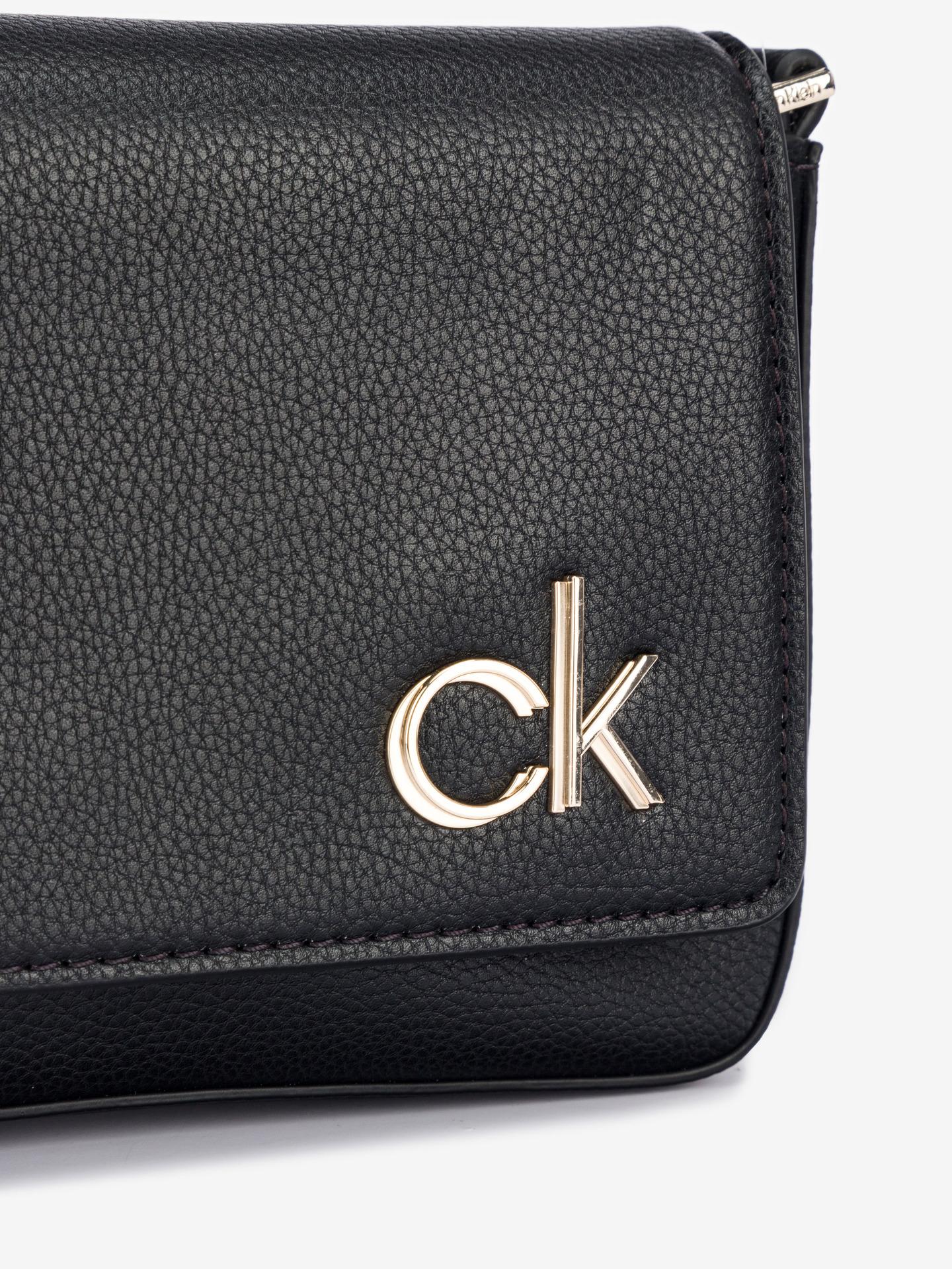 Calvin Klein nero crossbody borsetta Ew Flap