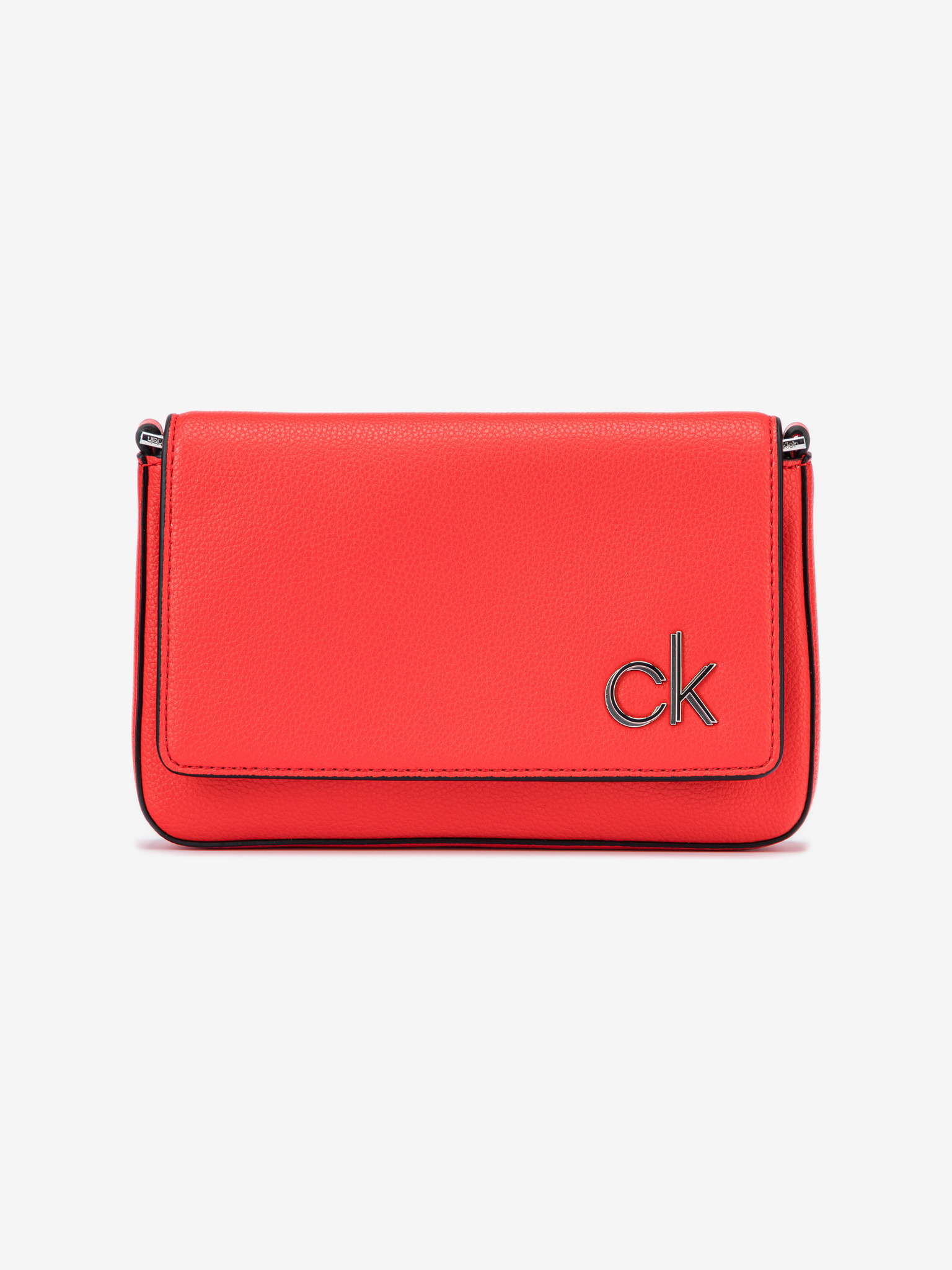 Calvin Klein rosso crossbody borsetta Ew Flap