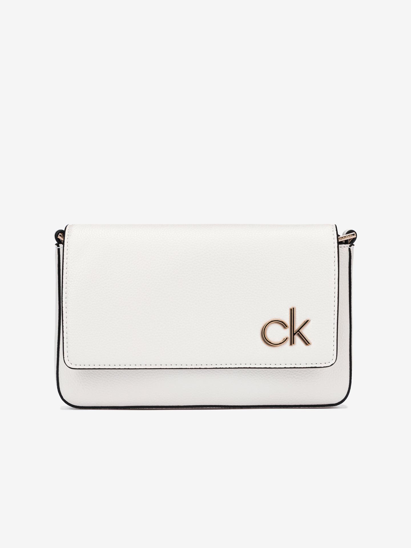 Calvin Klein bianco crossbody borsetta Ew Flap