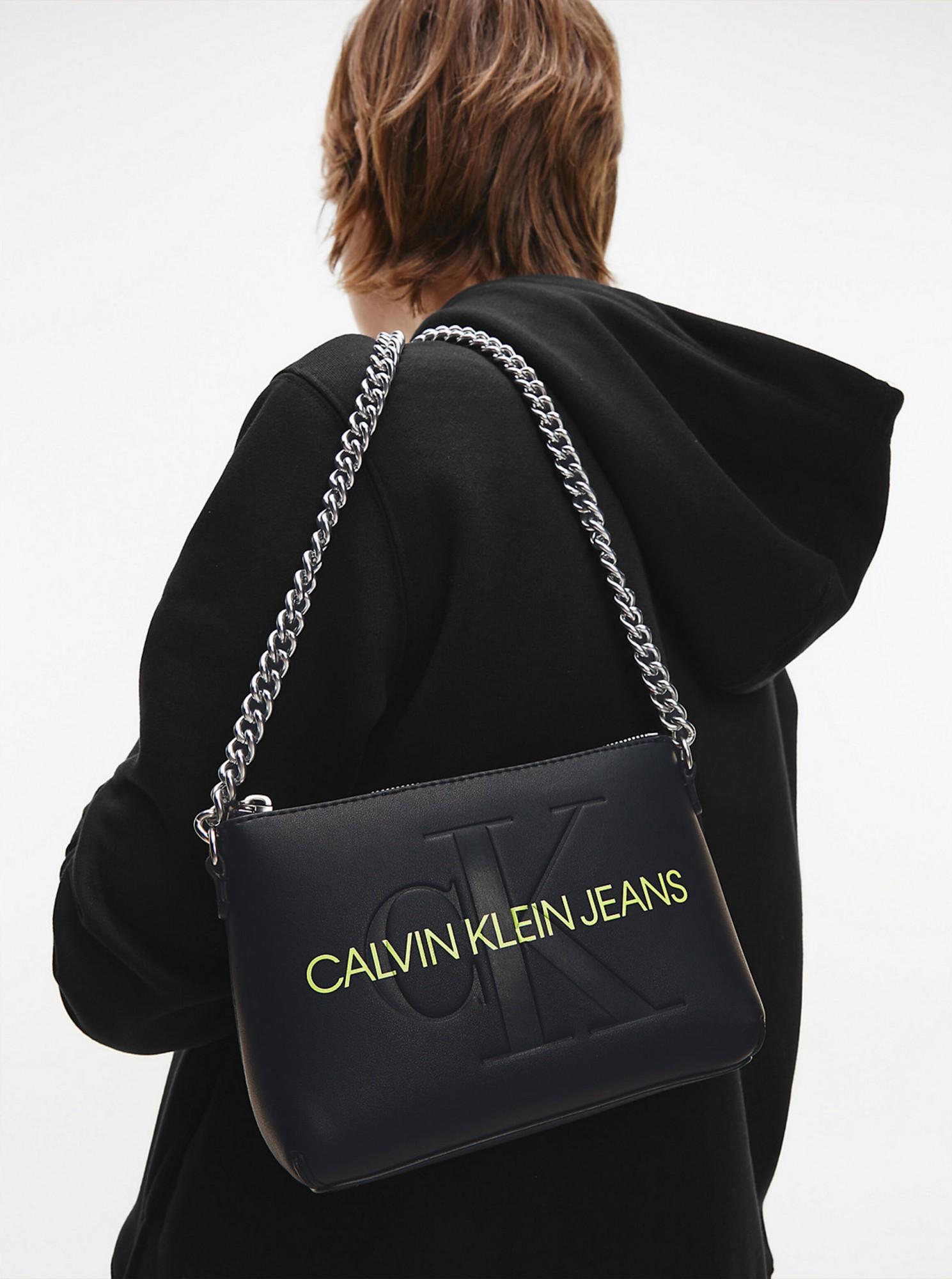 Calvin Klein nero crossbody borsetta